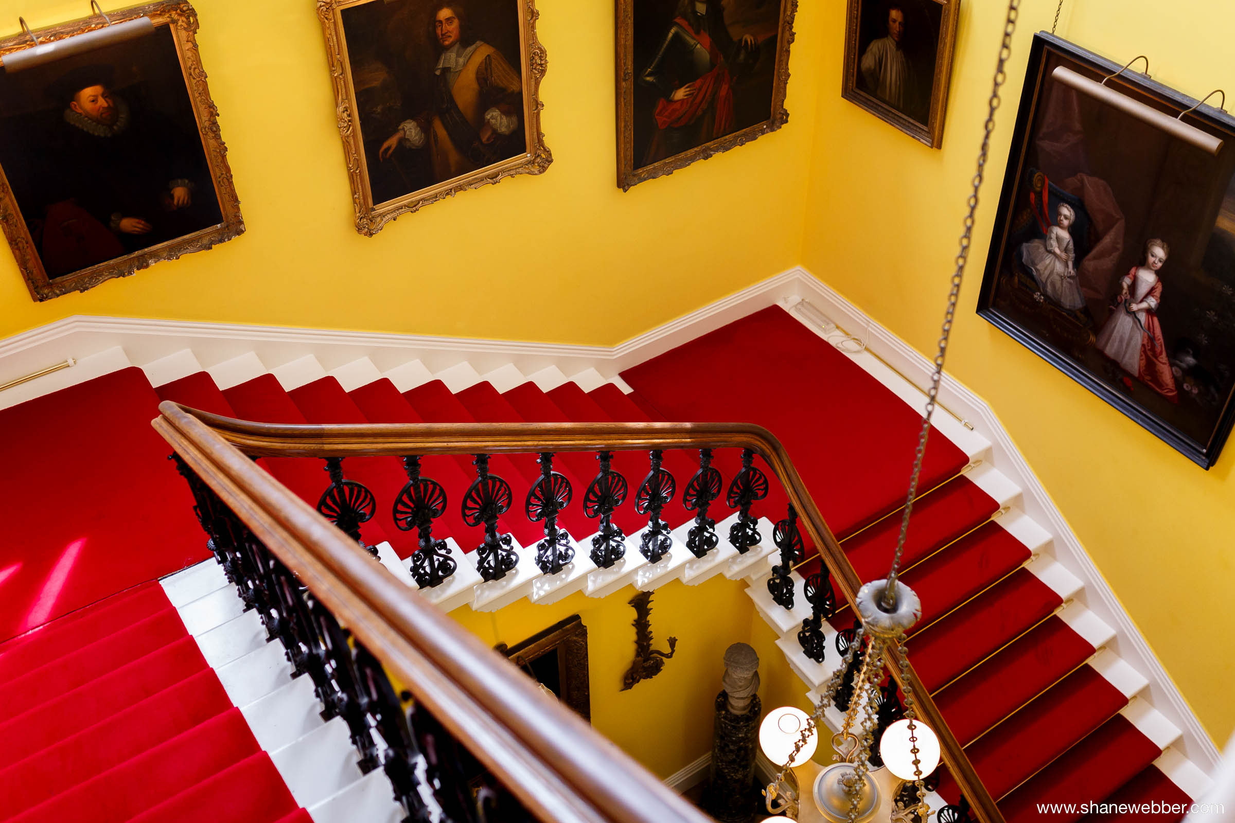 Capesthorne Hall wedding venue staircase