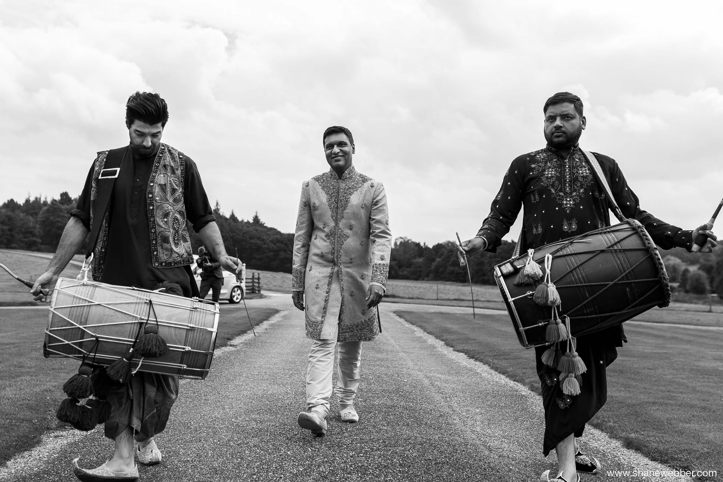 Dhol drummers at wedding