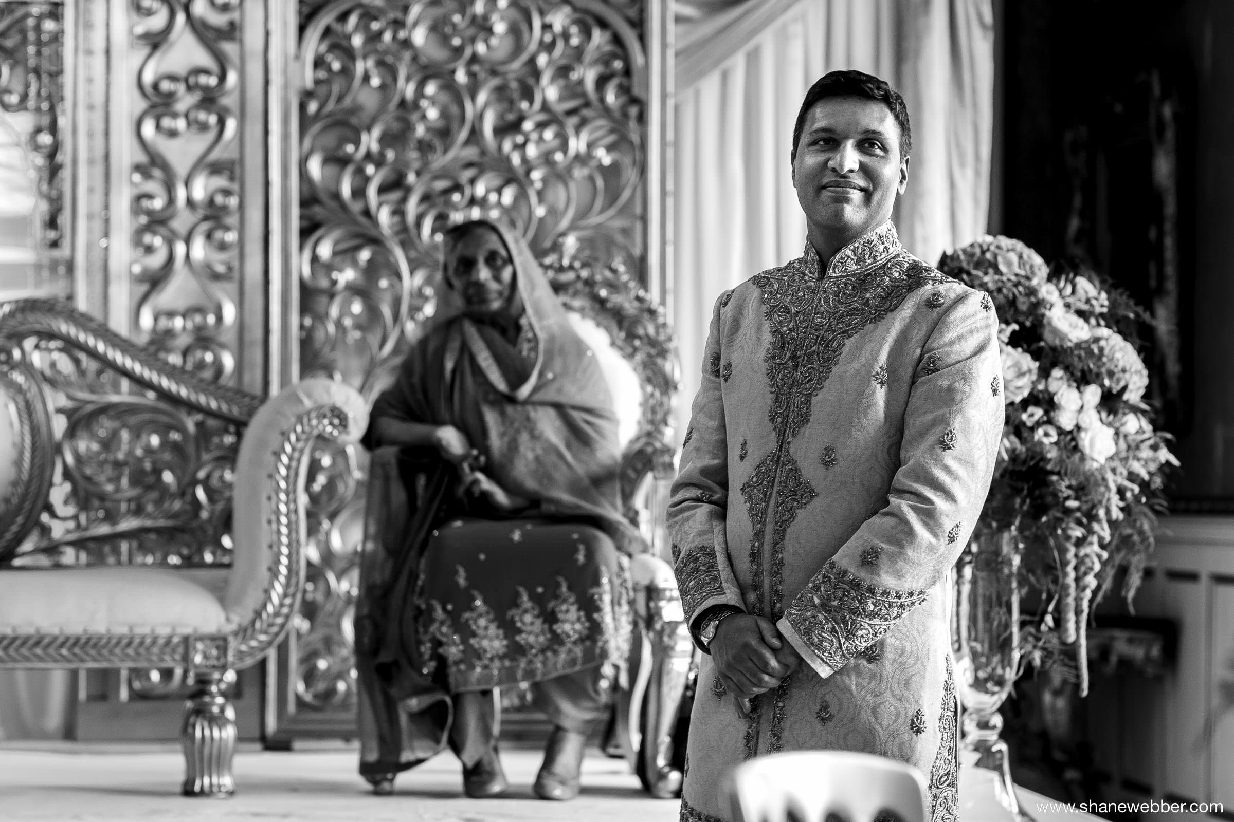Groom waiting nervously