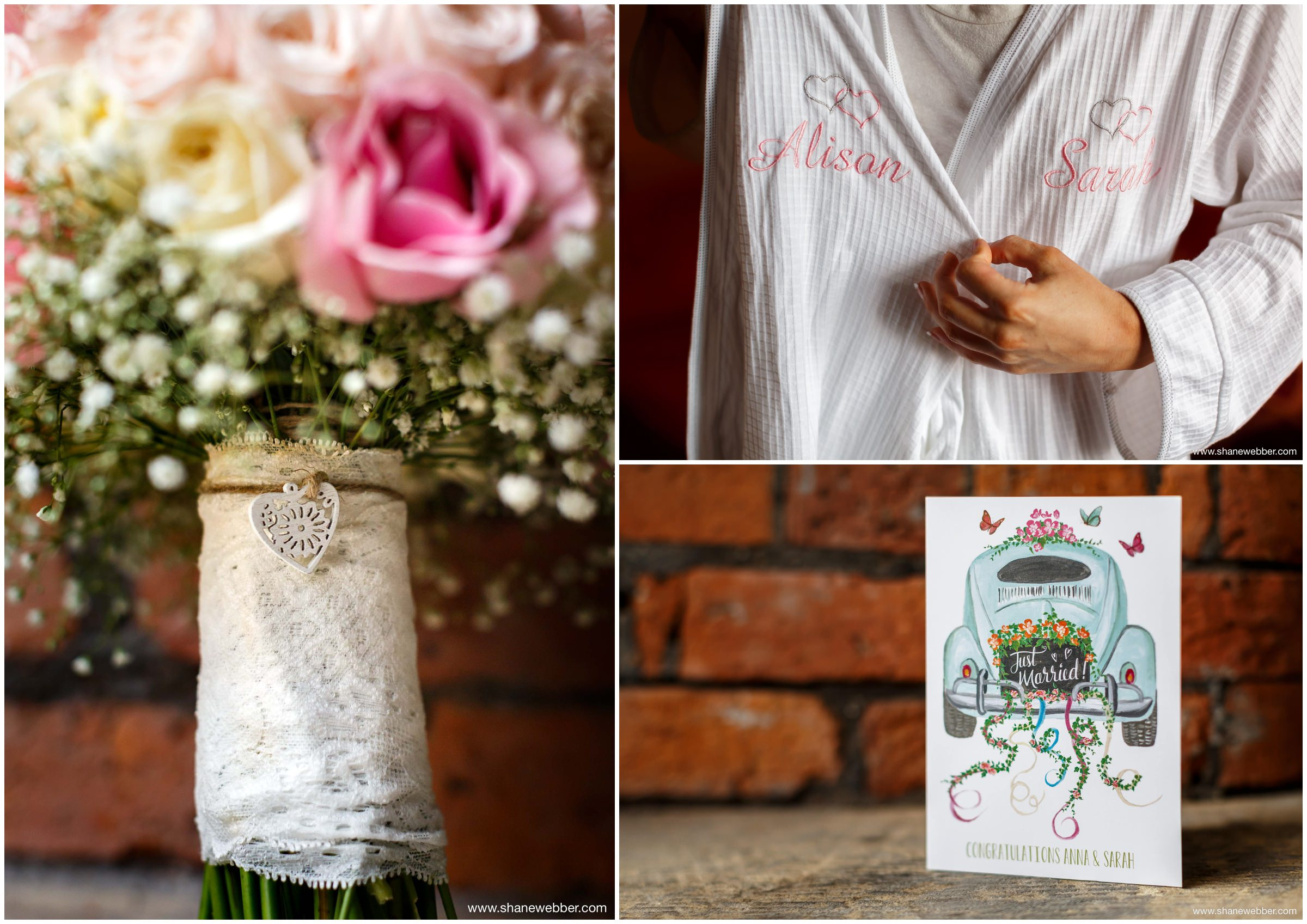 Cute wedding details for bridal preparation