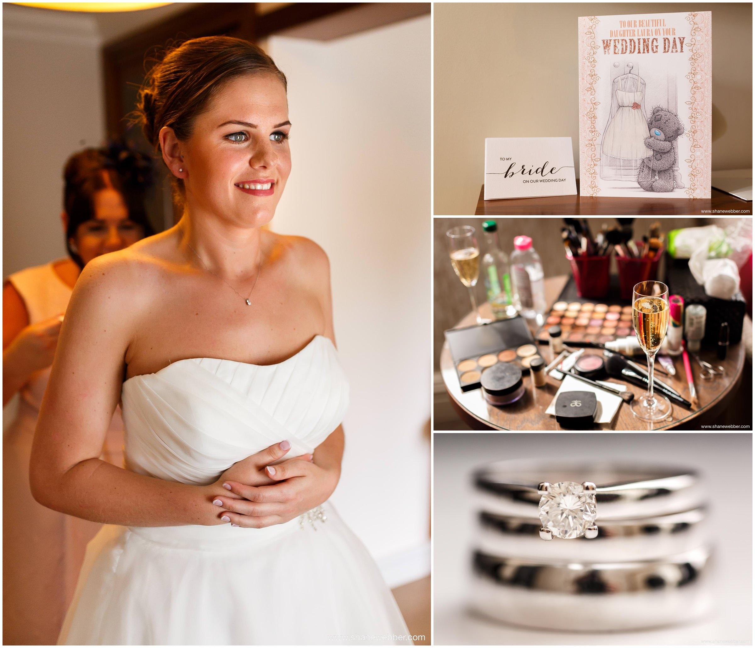 Bridal preparation photos at the Grosvenor Hotel Pulford