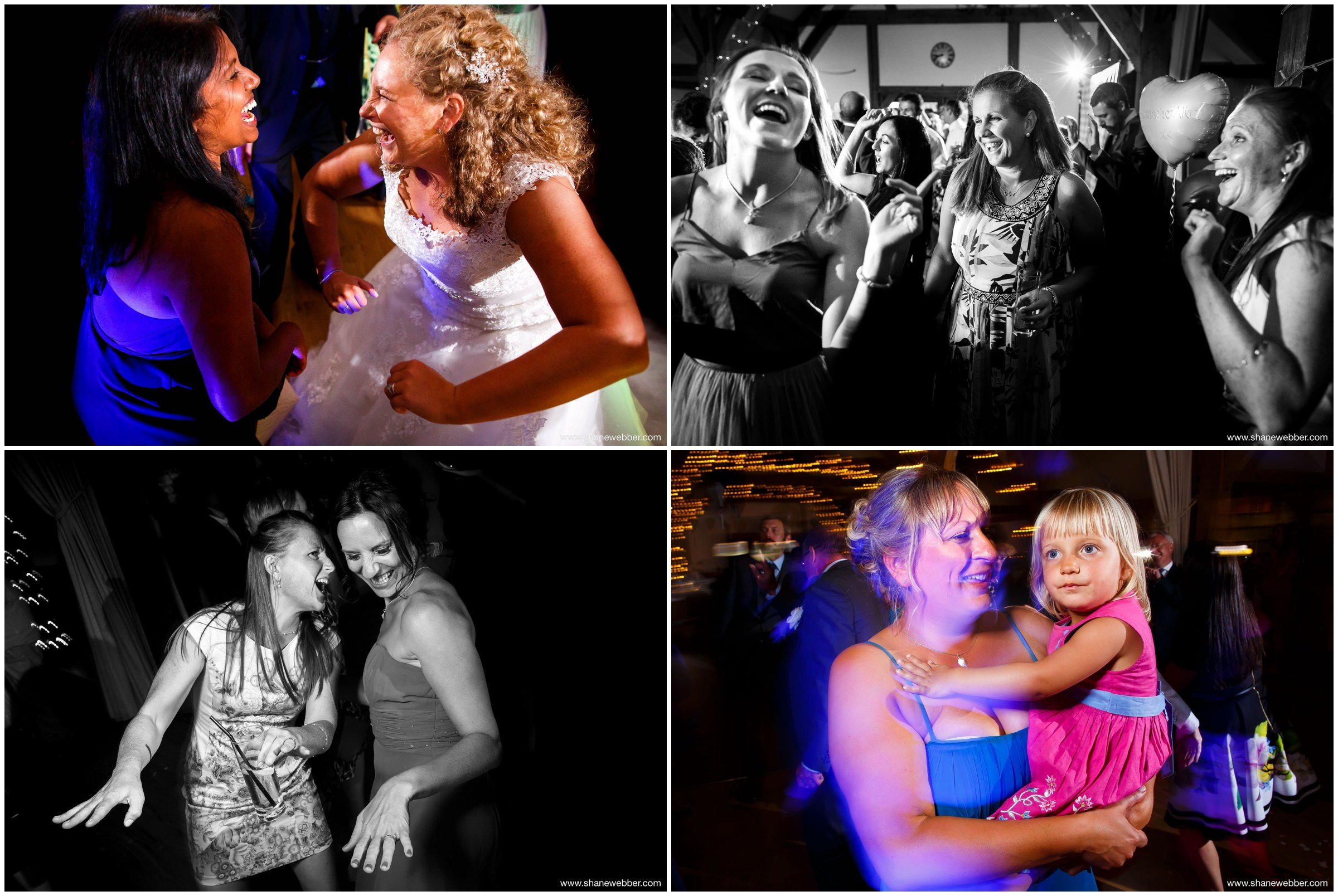 Party wedding photos at Sandhole Oak Barn