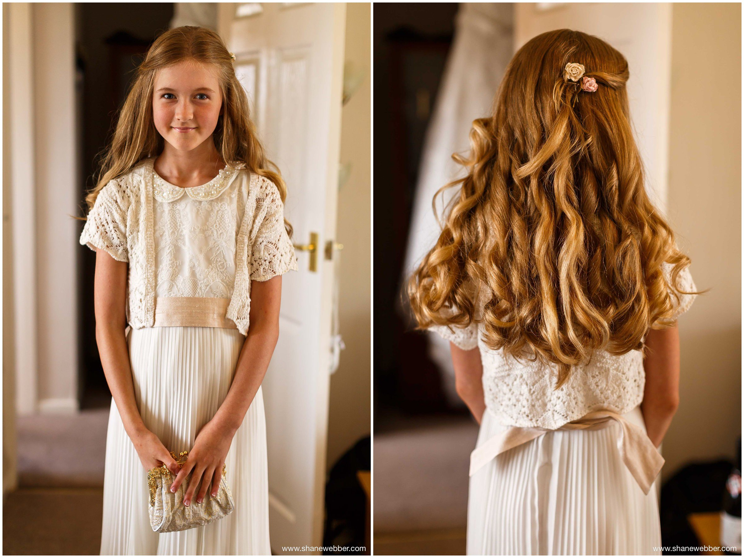 Flower girl curled wedding hair inspiration