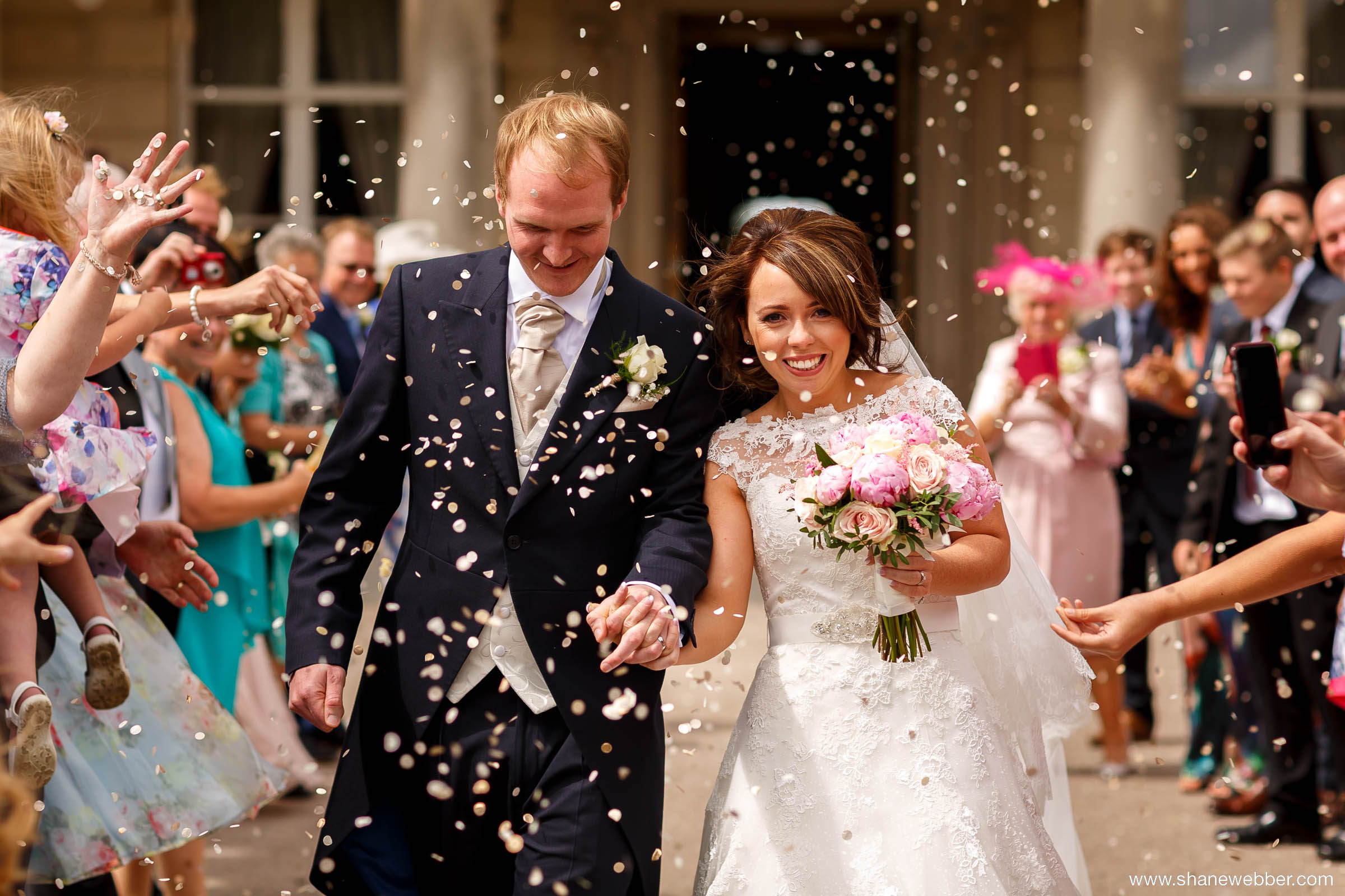 Confetti Haigh Hall wedding photography