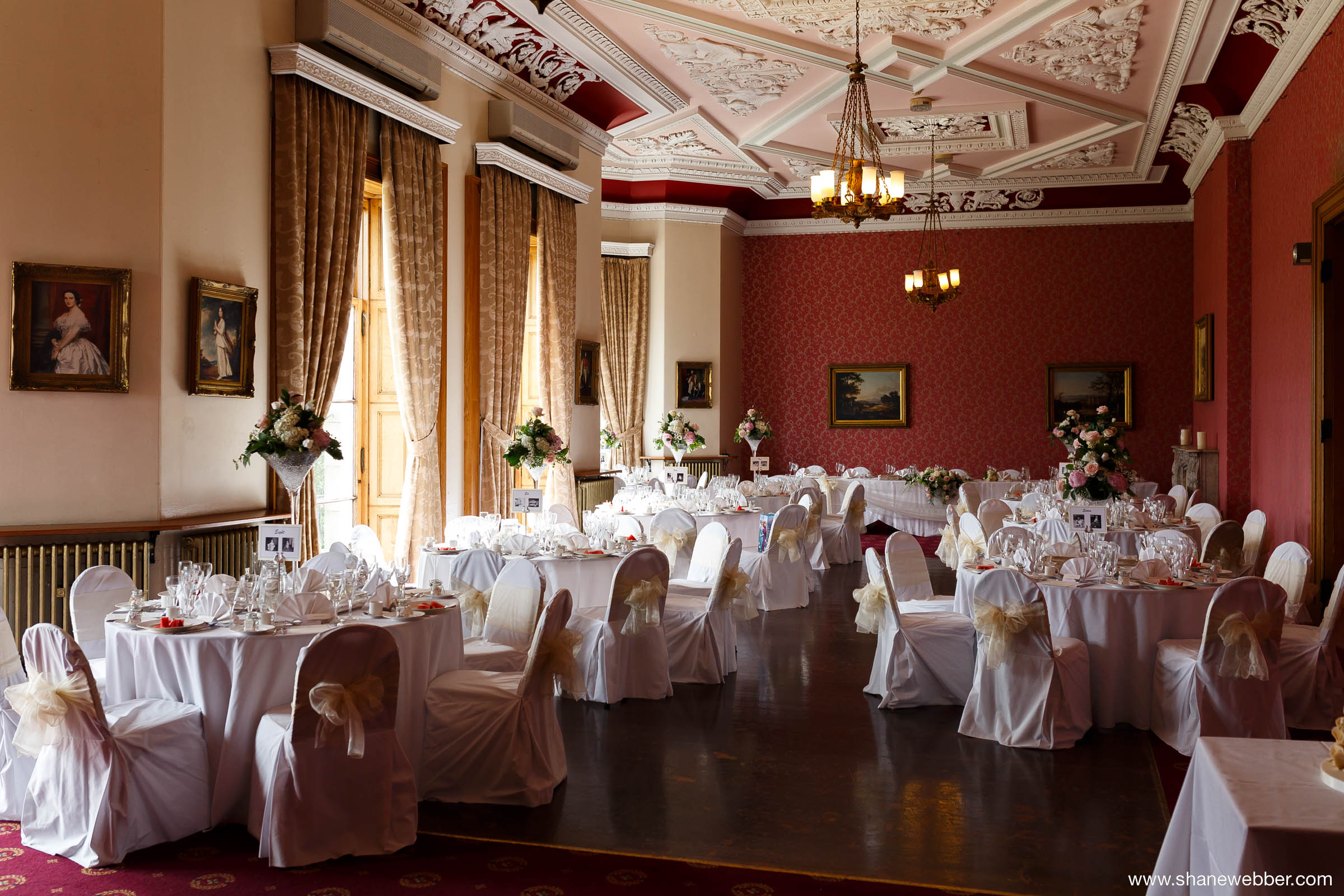 Haigh Hall Wedding Reception