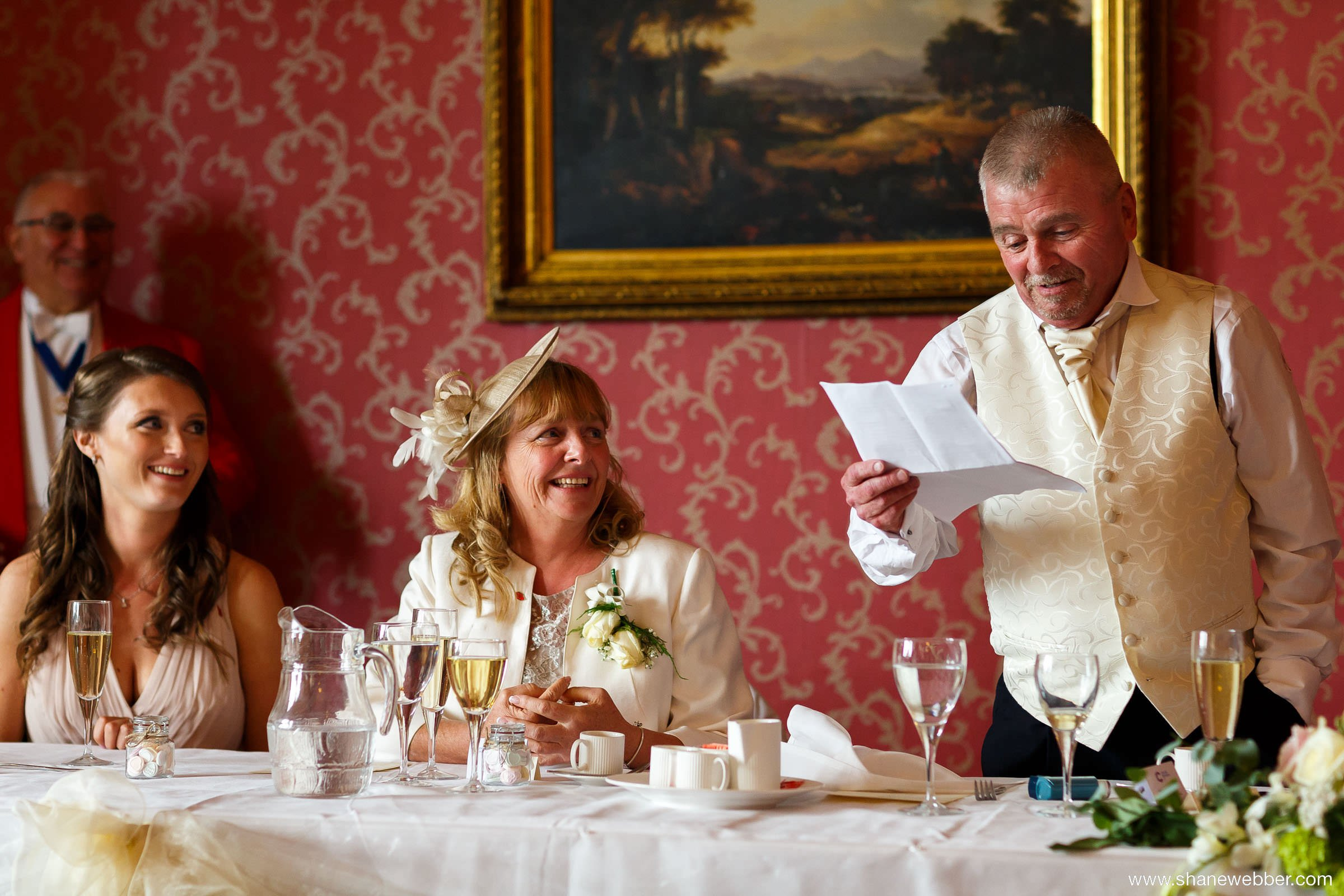 Wedding speeches at Haigh Hall