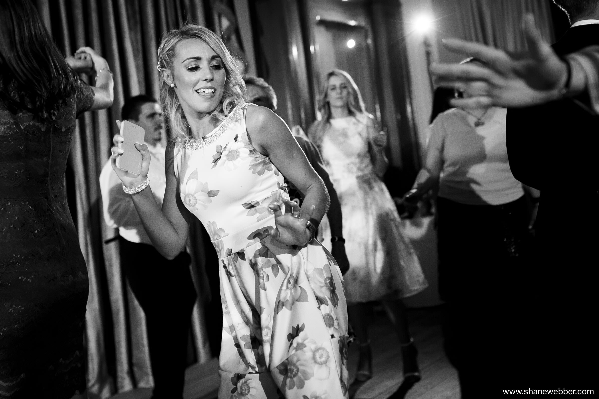 Party photos of guests dancing at Haigh Hall wedding