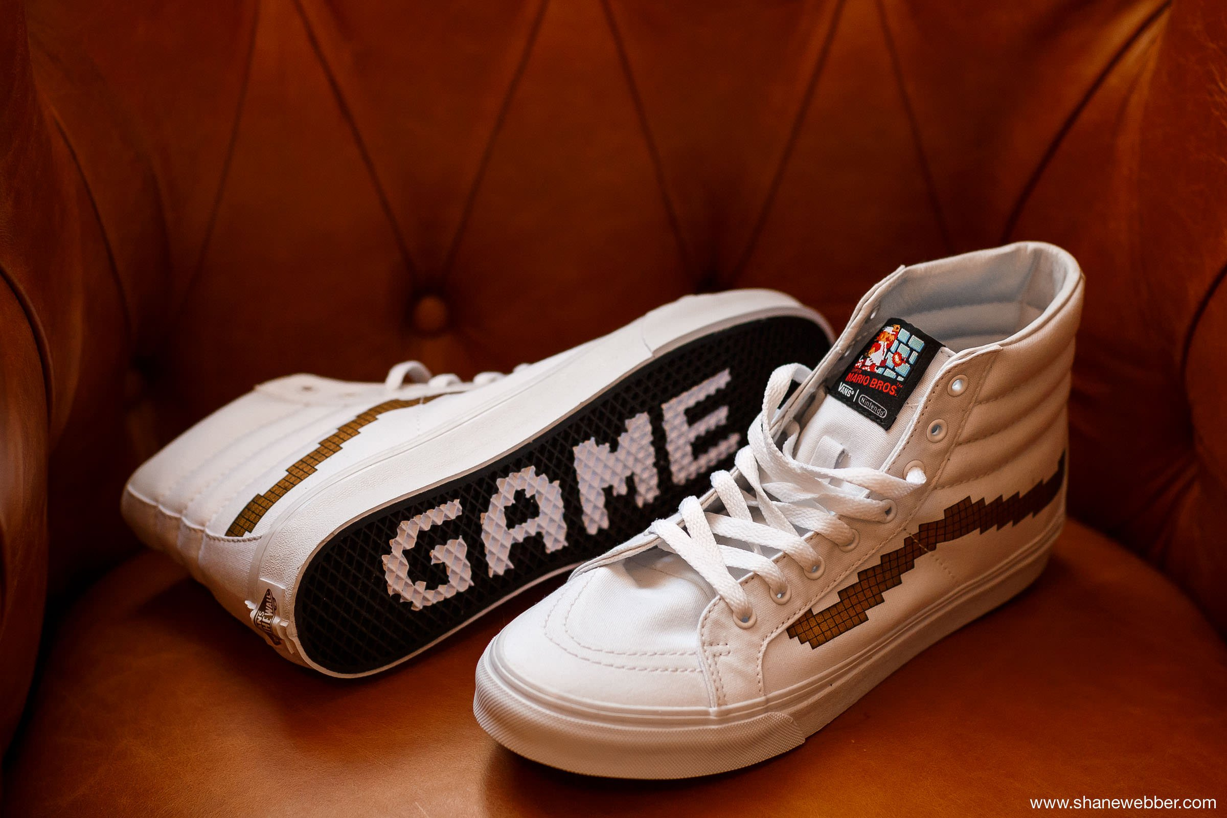 Vans X Nintendo Sk8-Hi wedding trainers in white