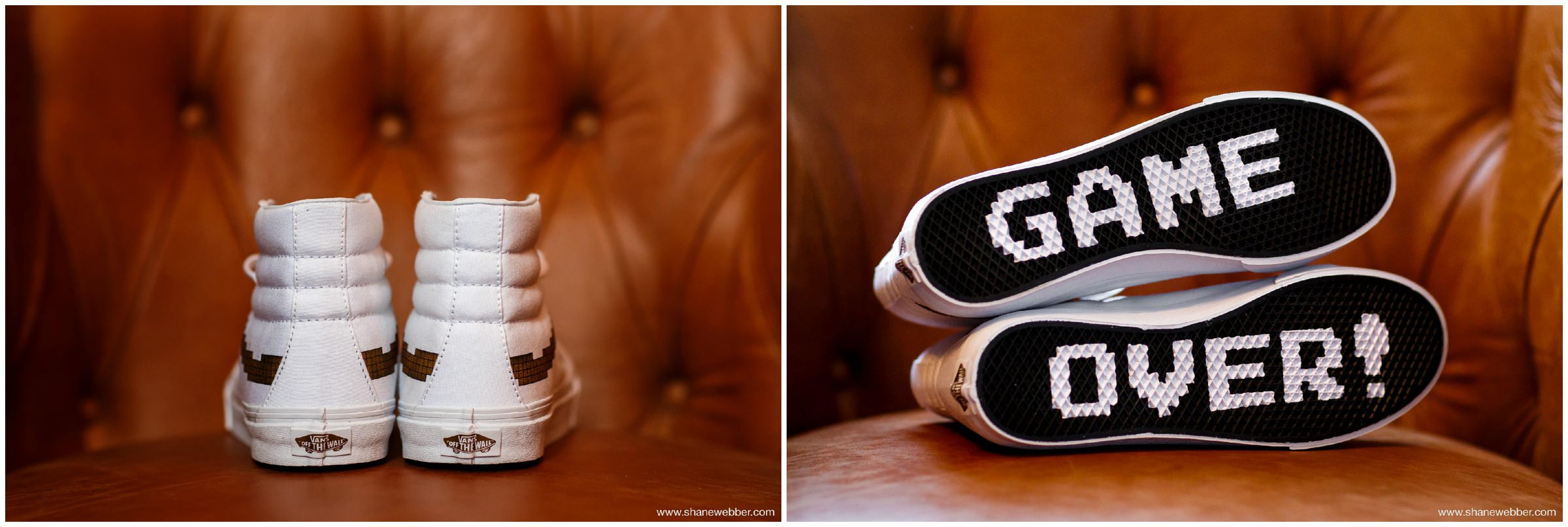Vans X Nintendo Sk8-Hi white hi-top wedding trainers