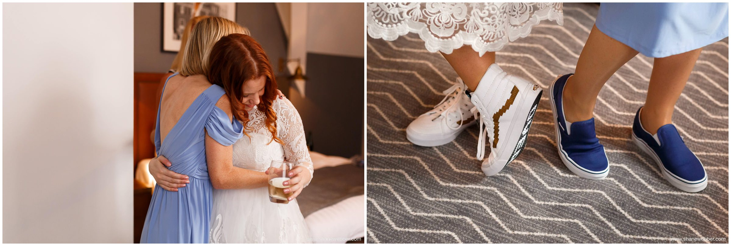 Bride and bridesmaids wearing Vans