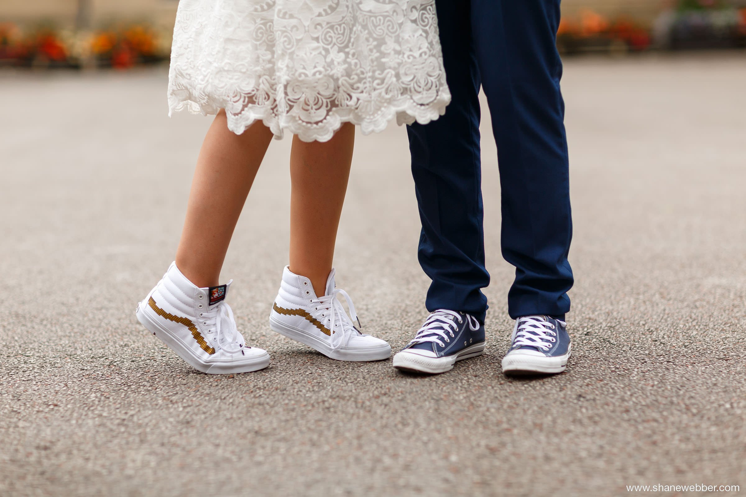 Vans wedding trainers