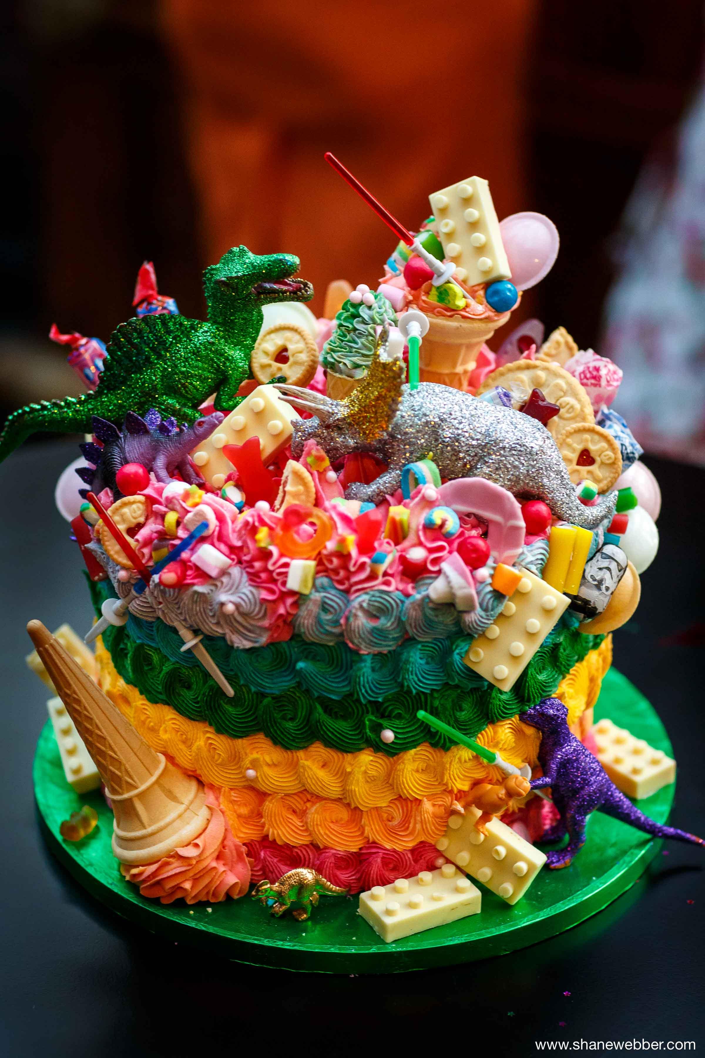 Jurassic Park style dinosaur wedding cake