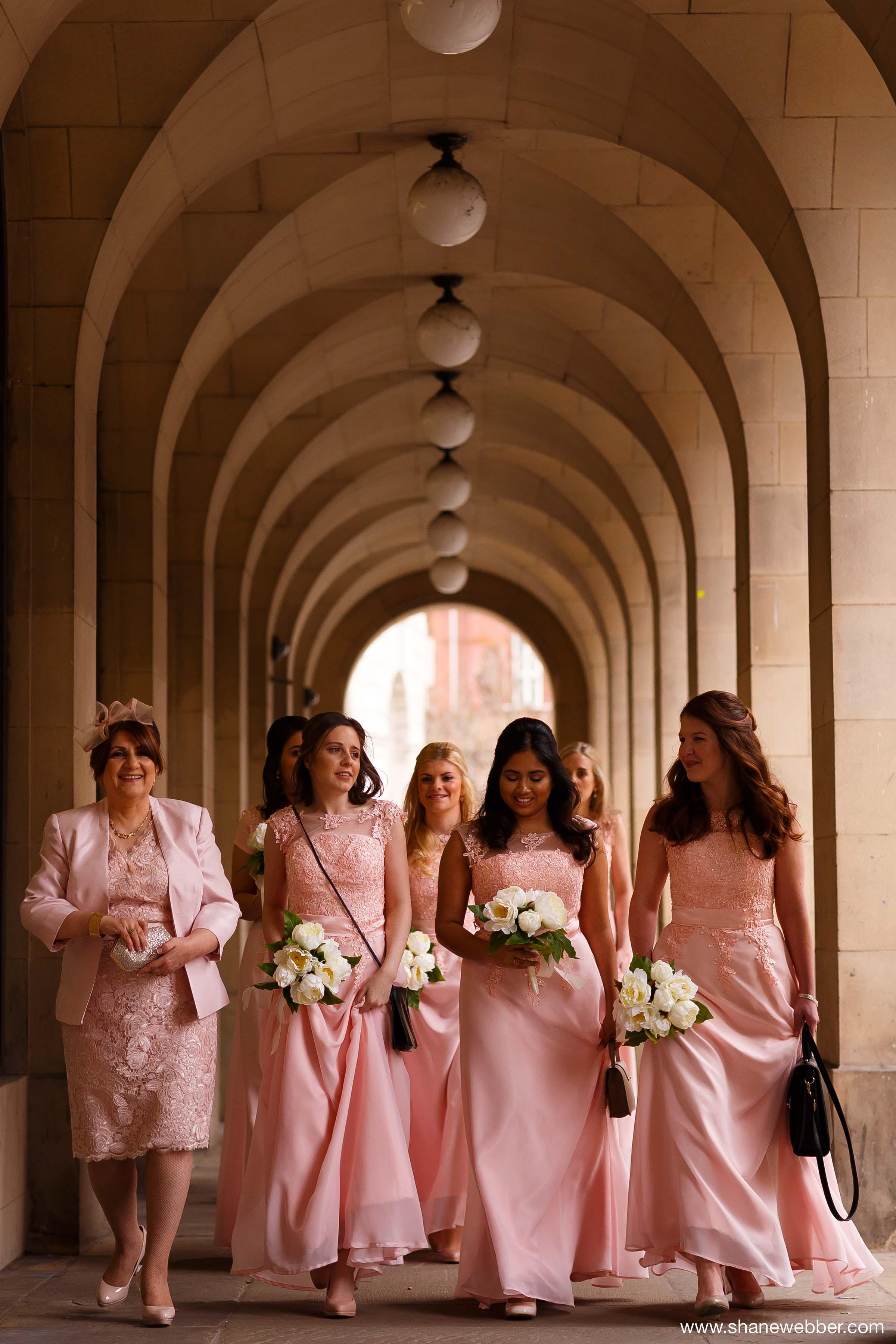 Light pink bridesmaids dresses