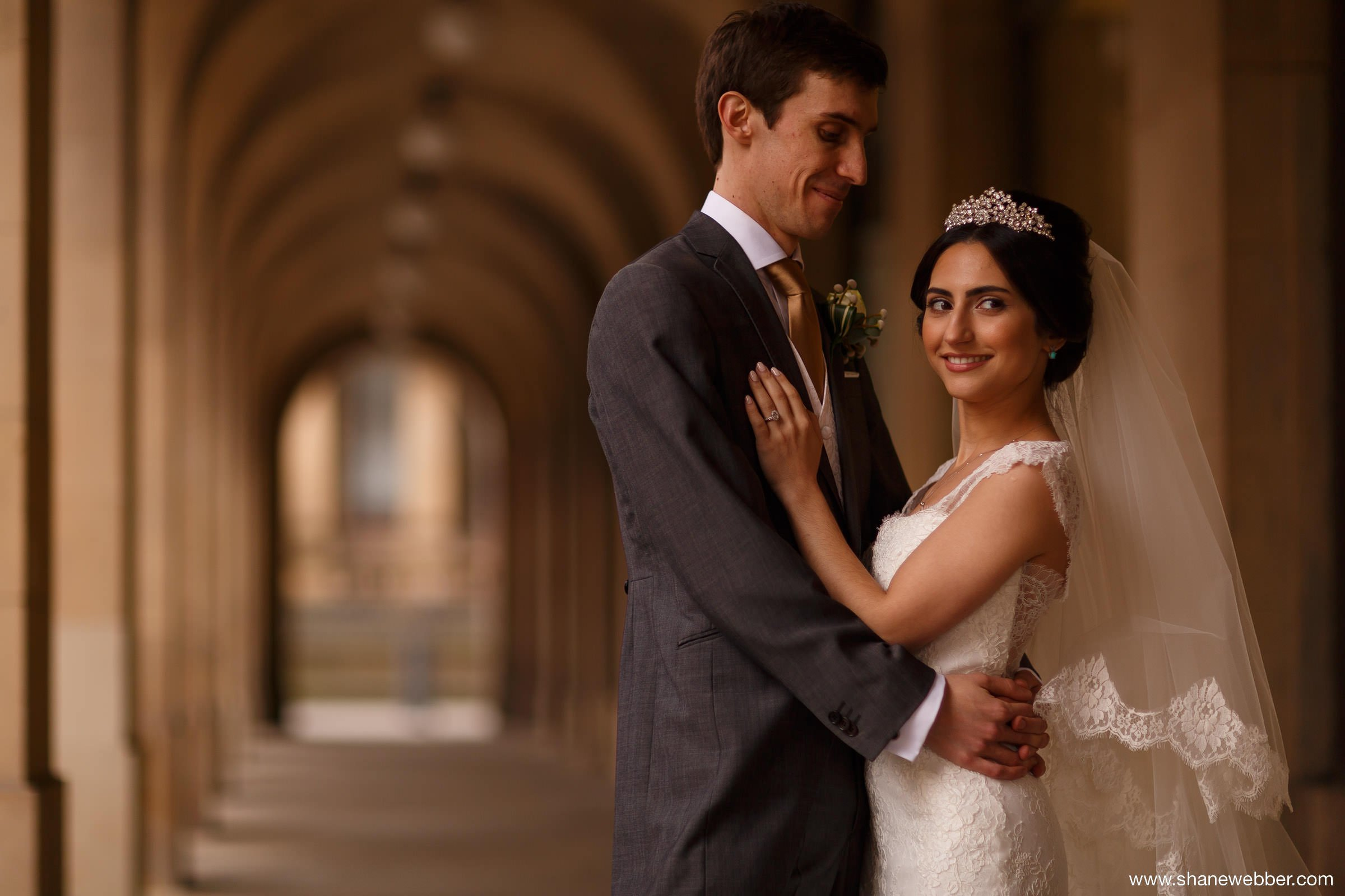 Iranian bride with English groom