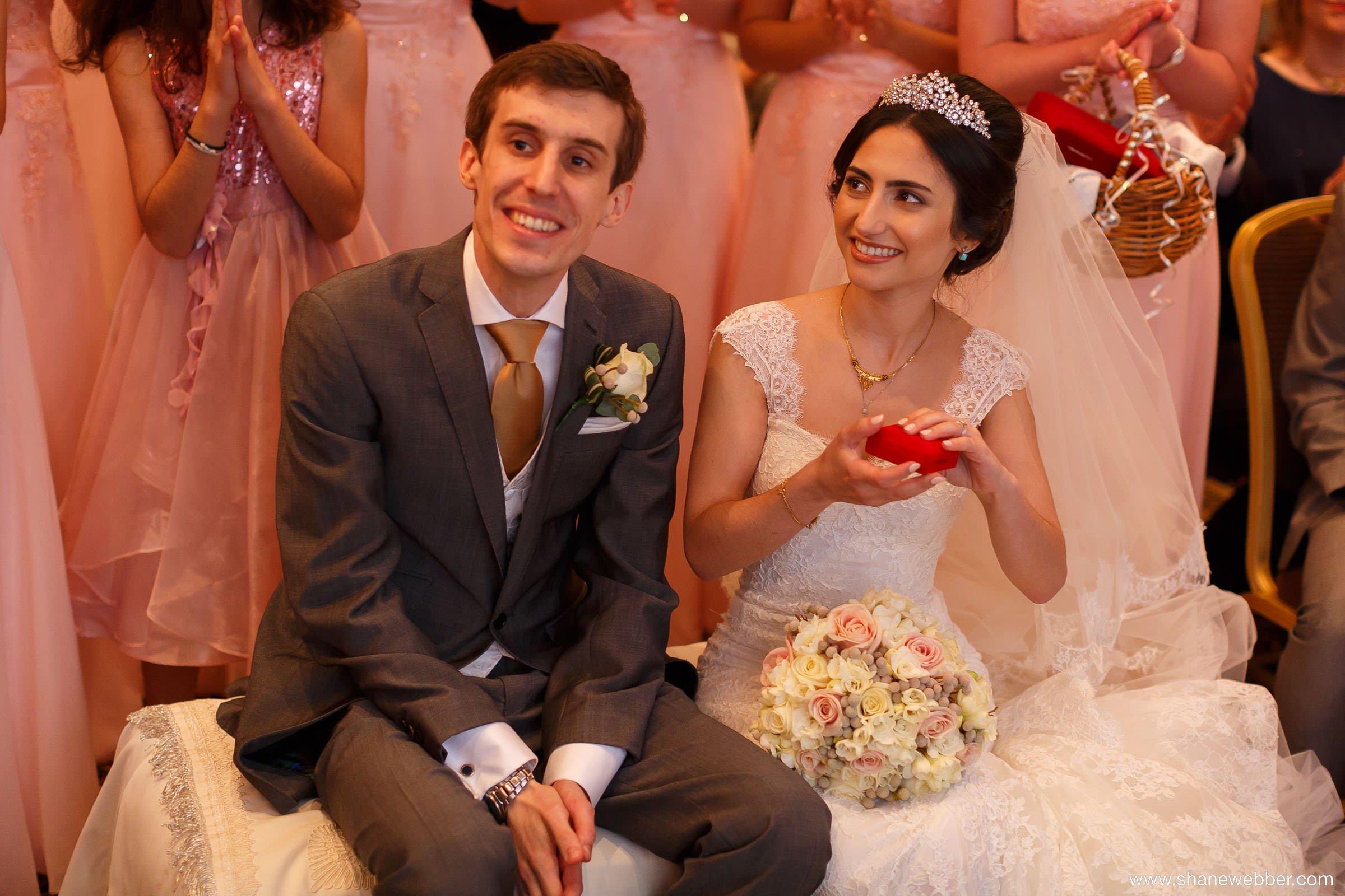 Bride receiving gift