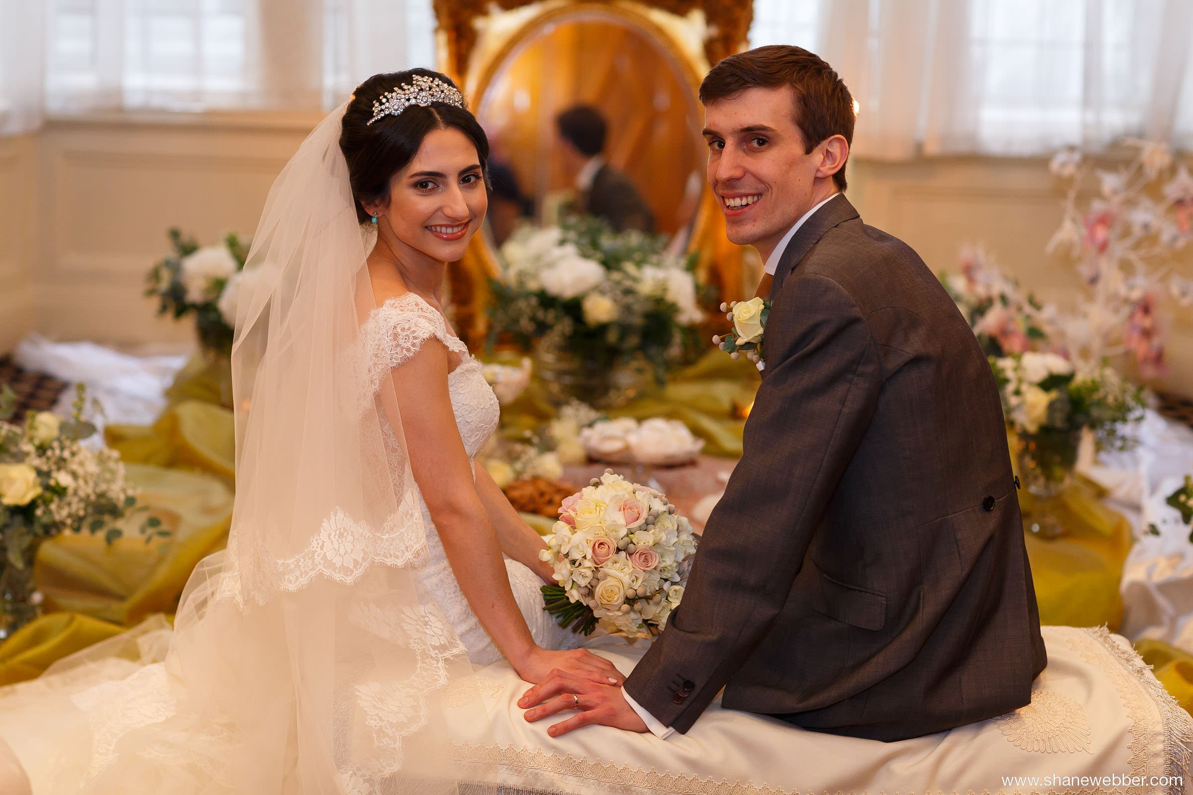 Persian bride with husband