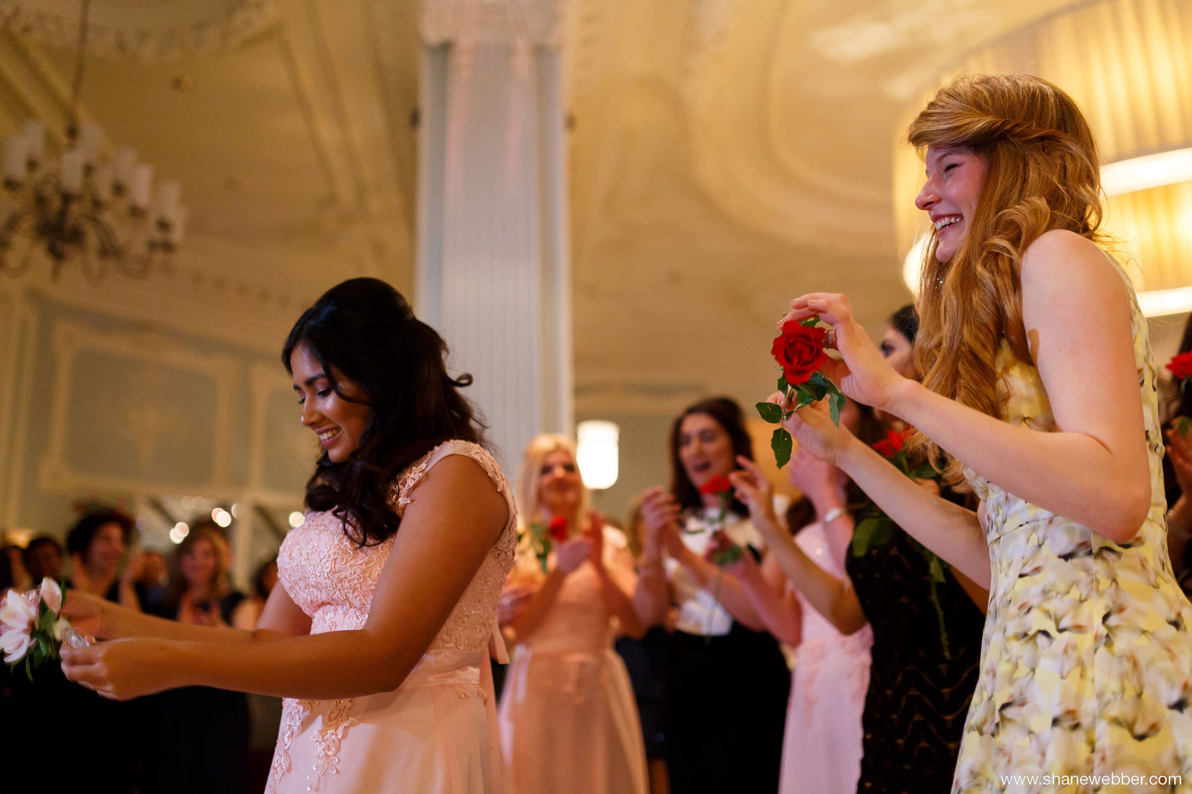 Knife dance at wedding