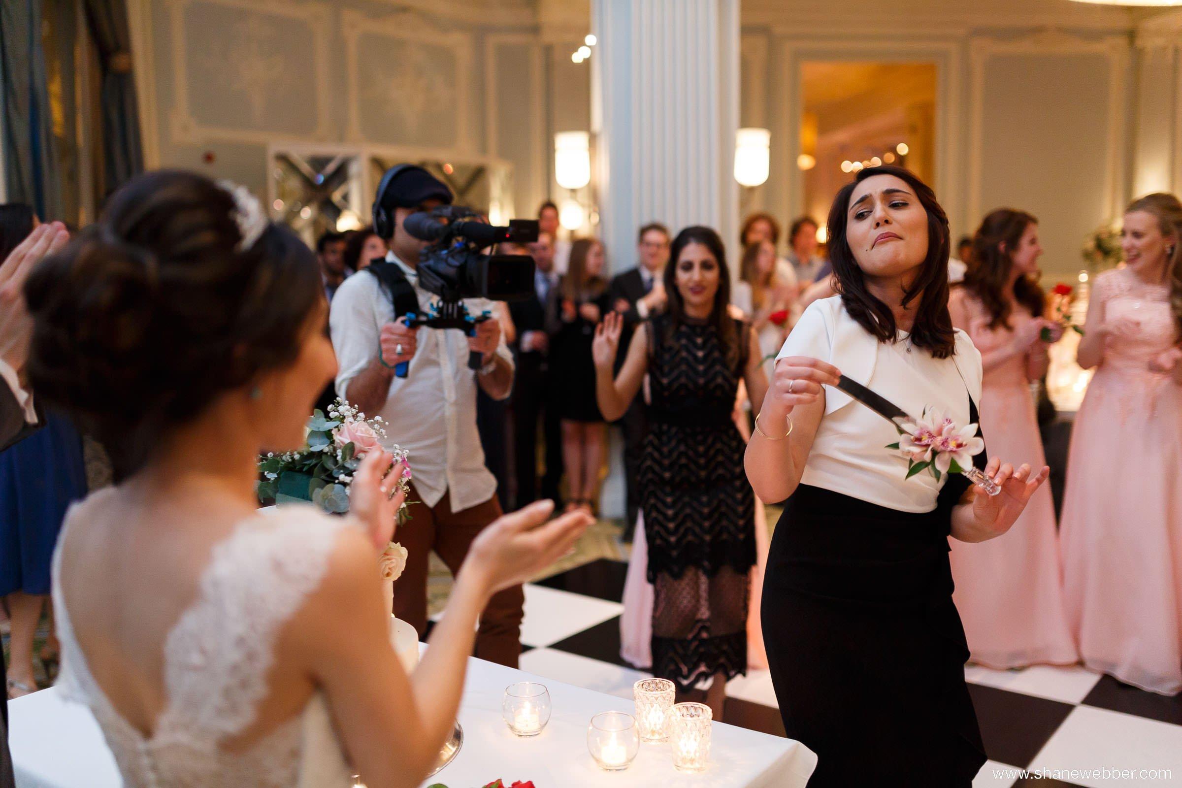 Knife dance at Iranian wedding