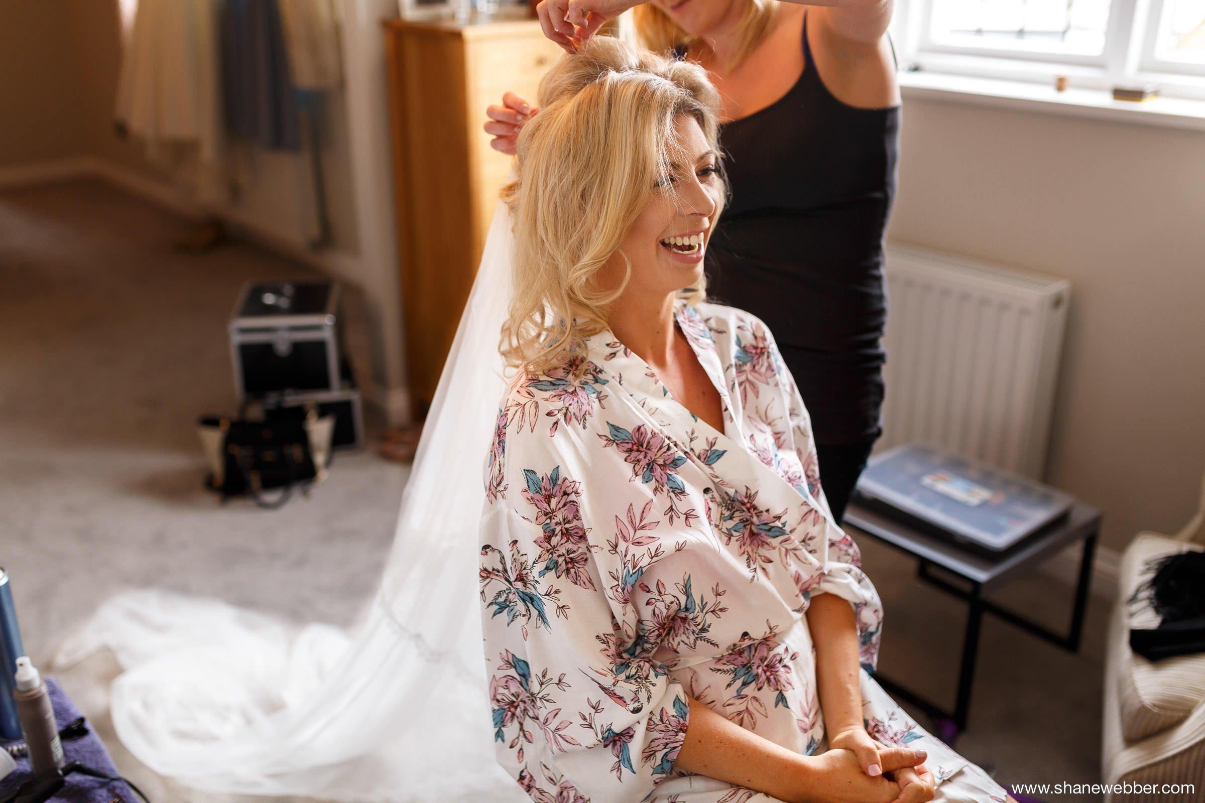 Bridal preparation photo