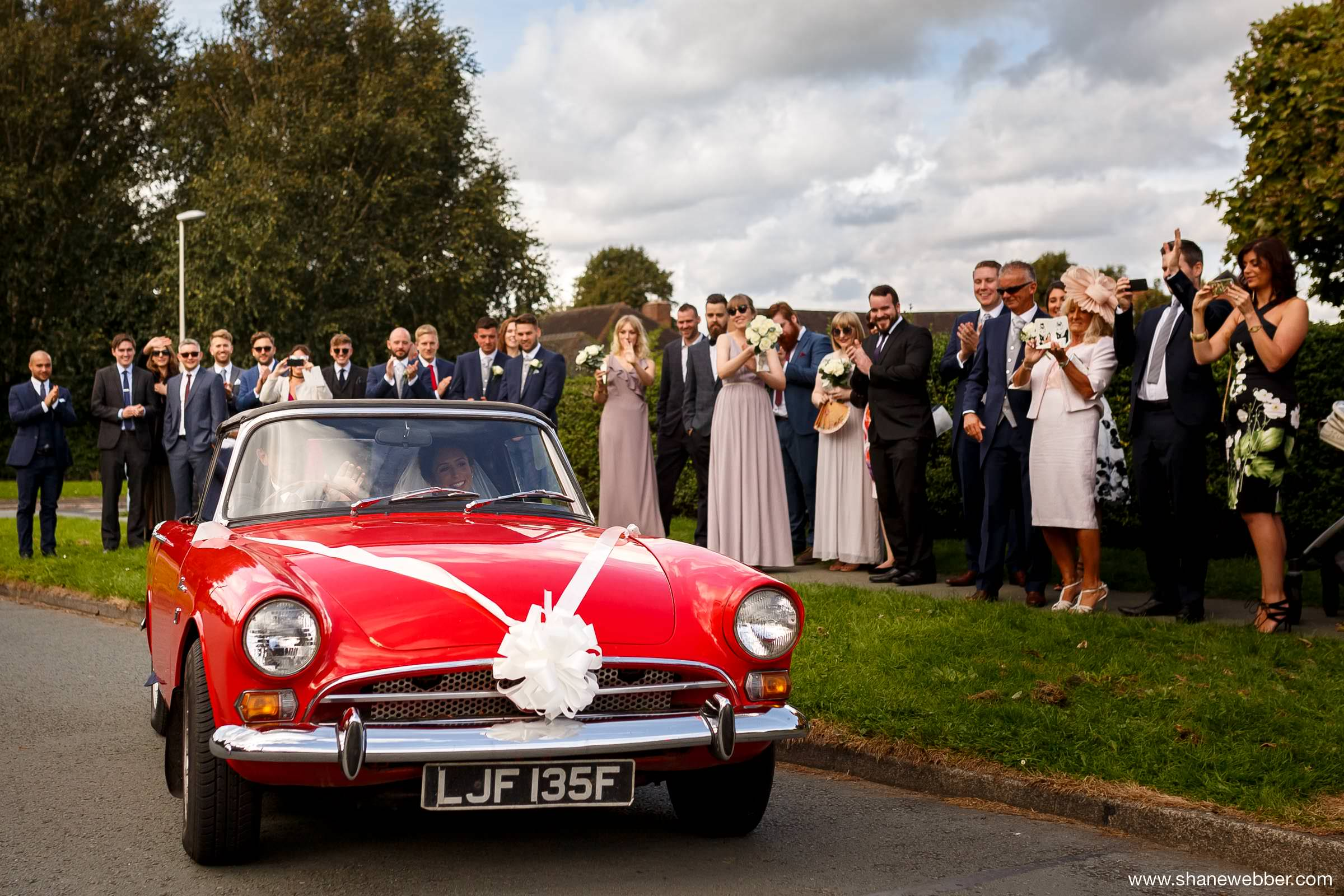 Best Red Wedding Cars Vintage Style
