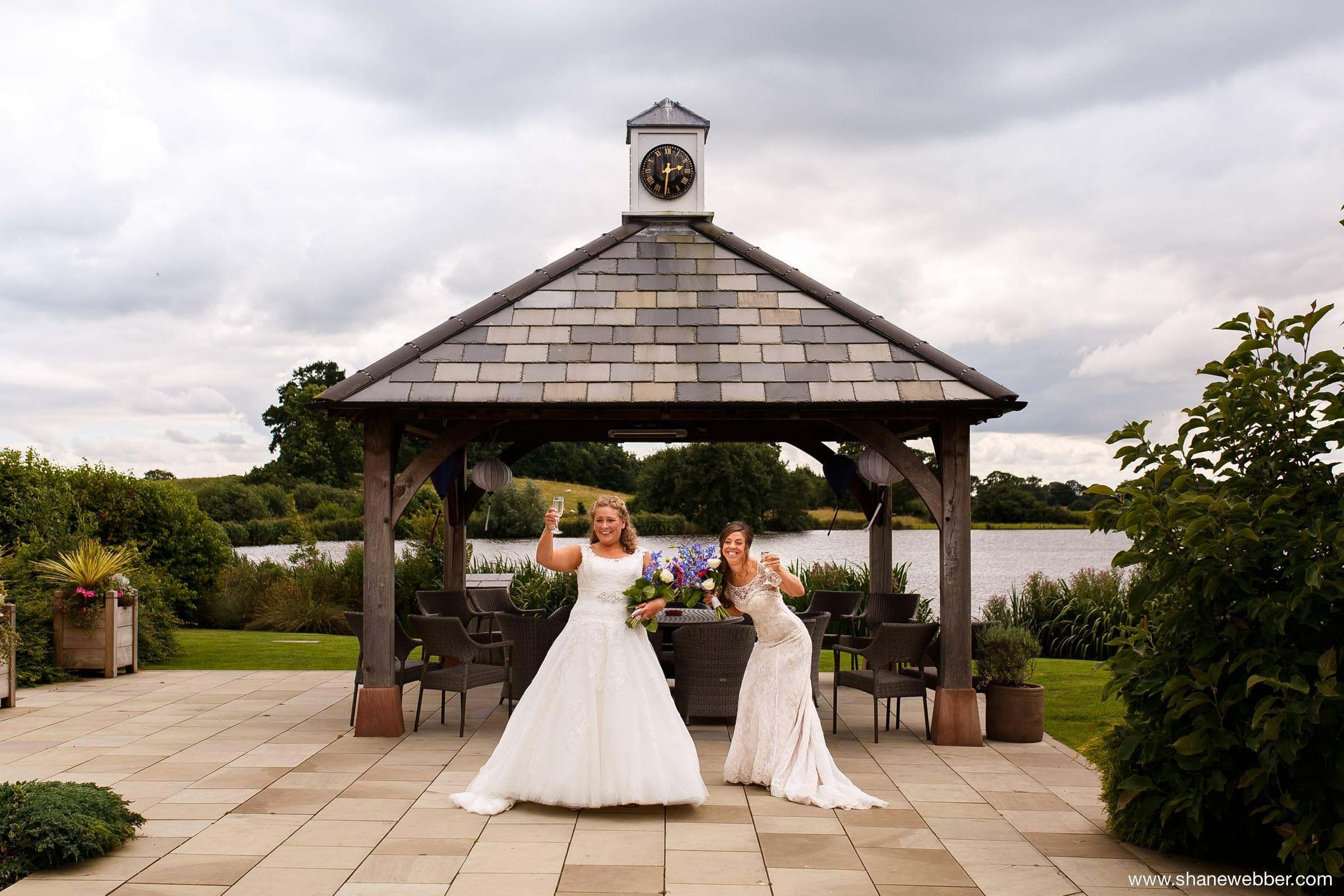 Two brides at same sex wedding