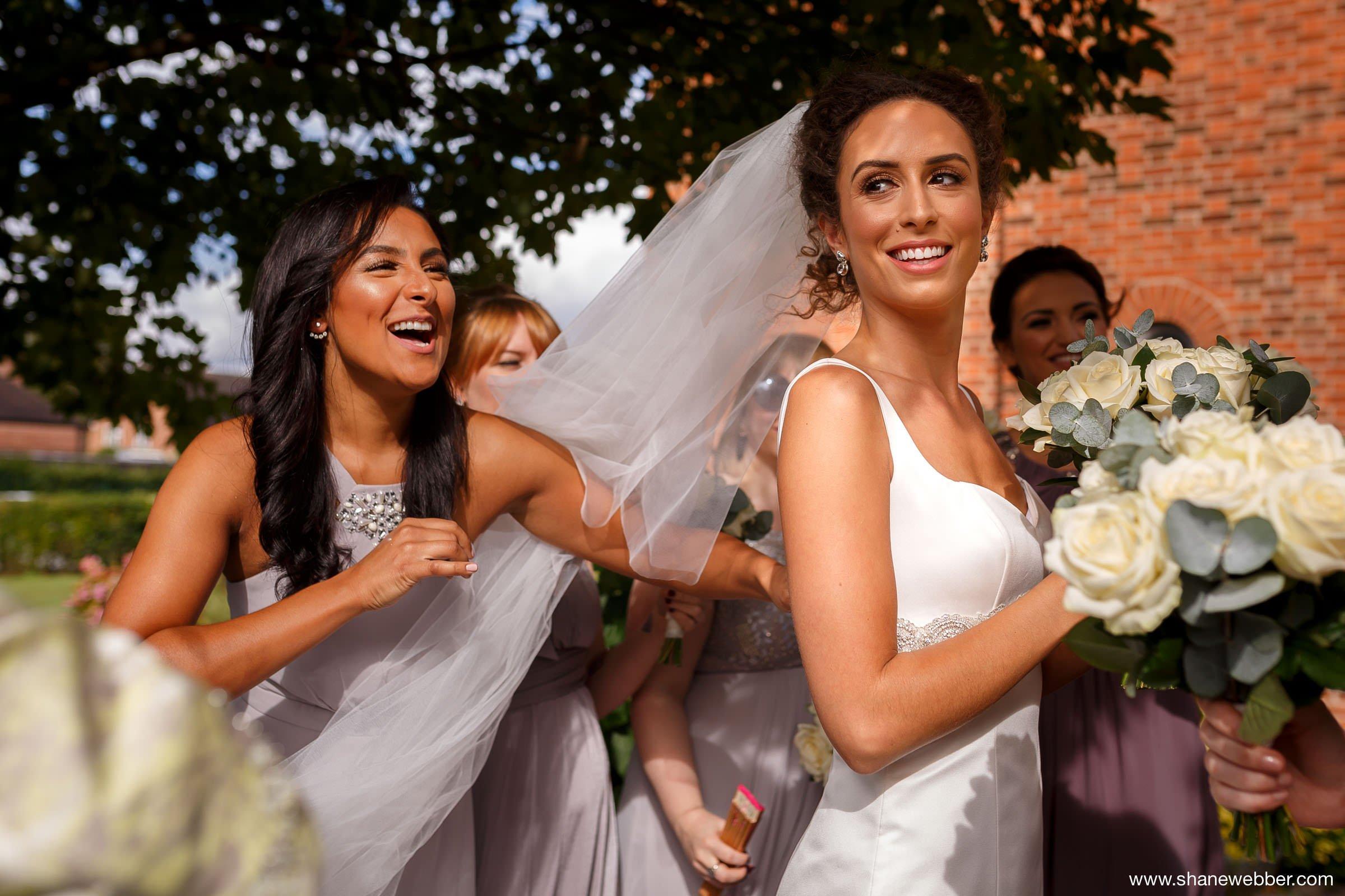 Bride at church