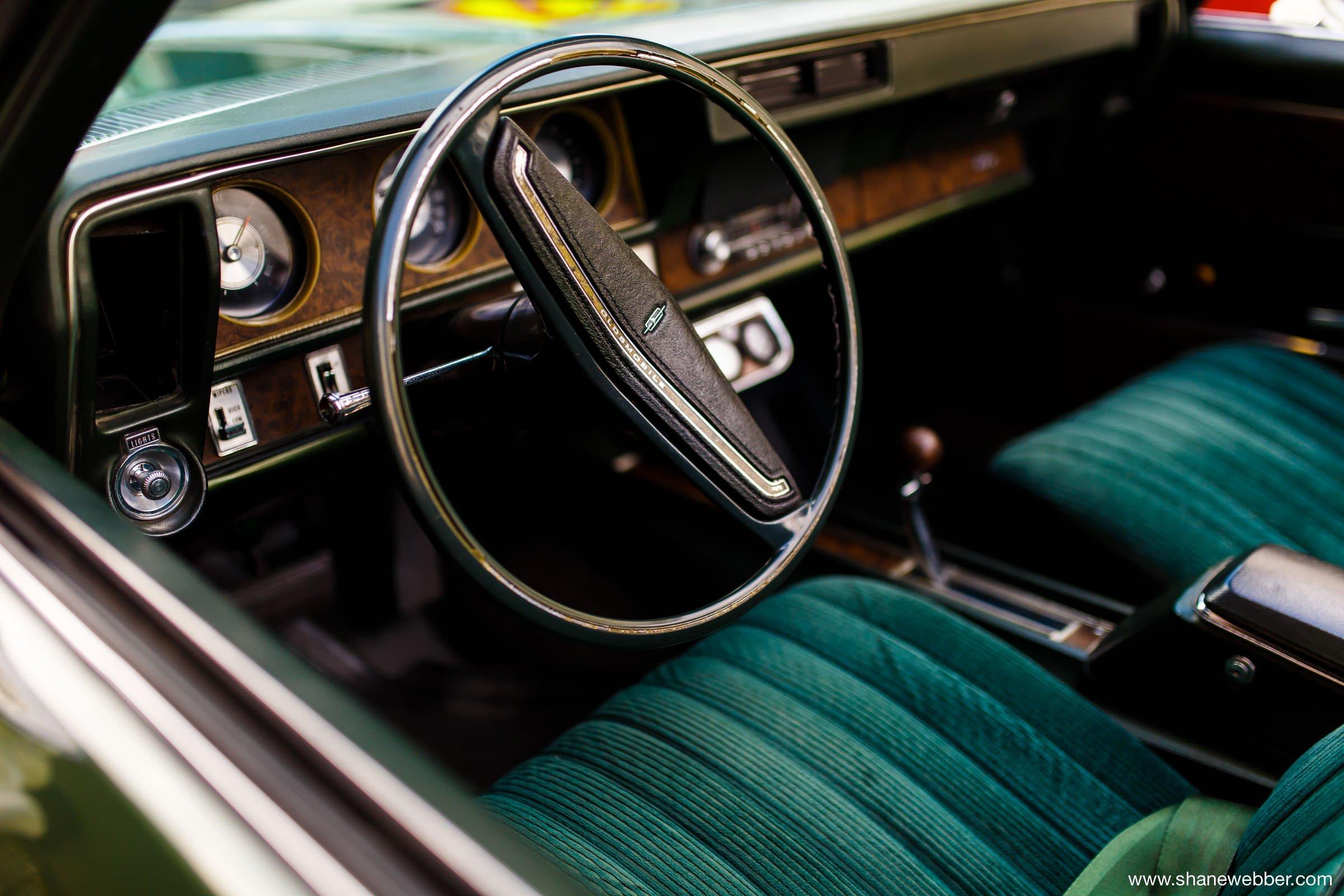 Classic American vintage wedding car