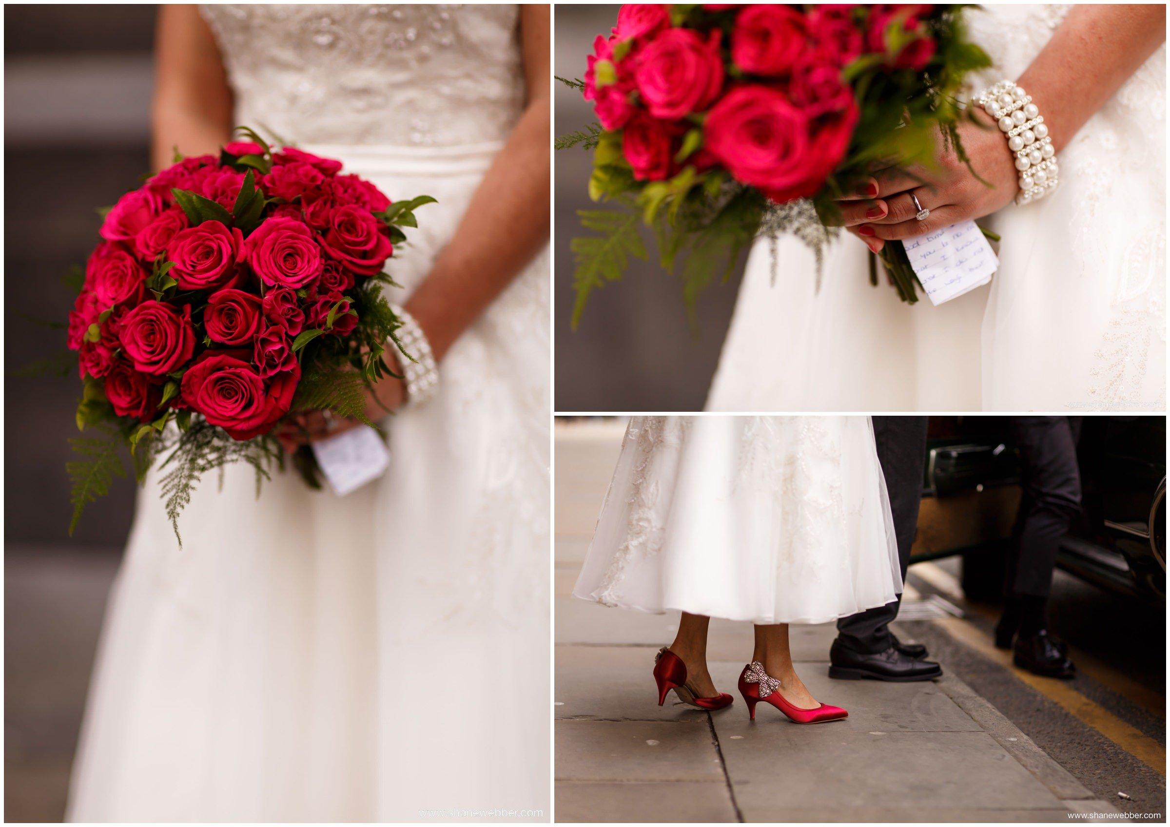 Vintage red bouquet