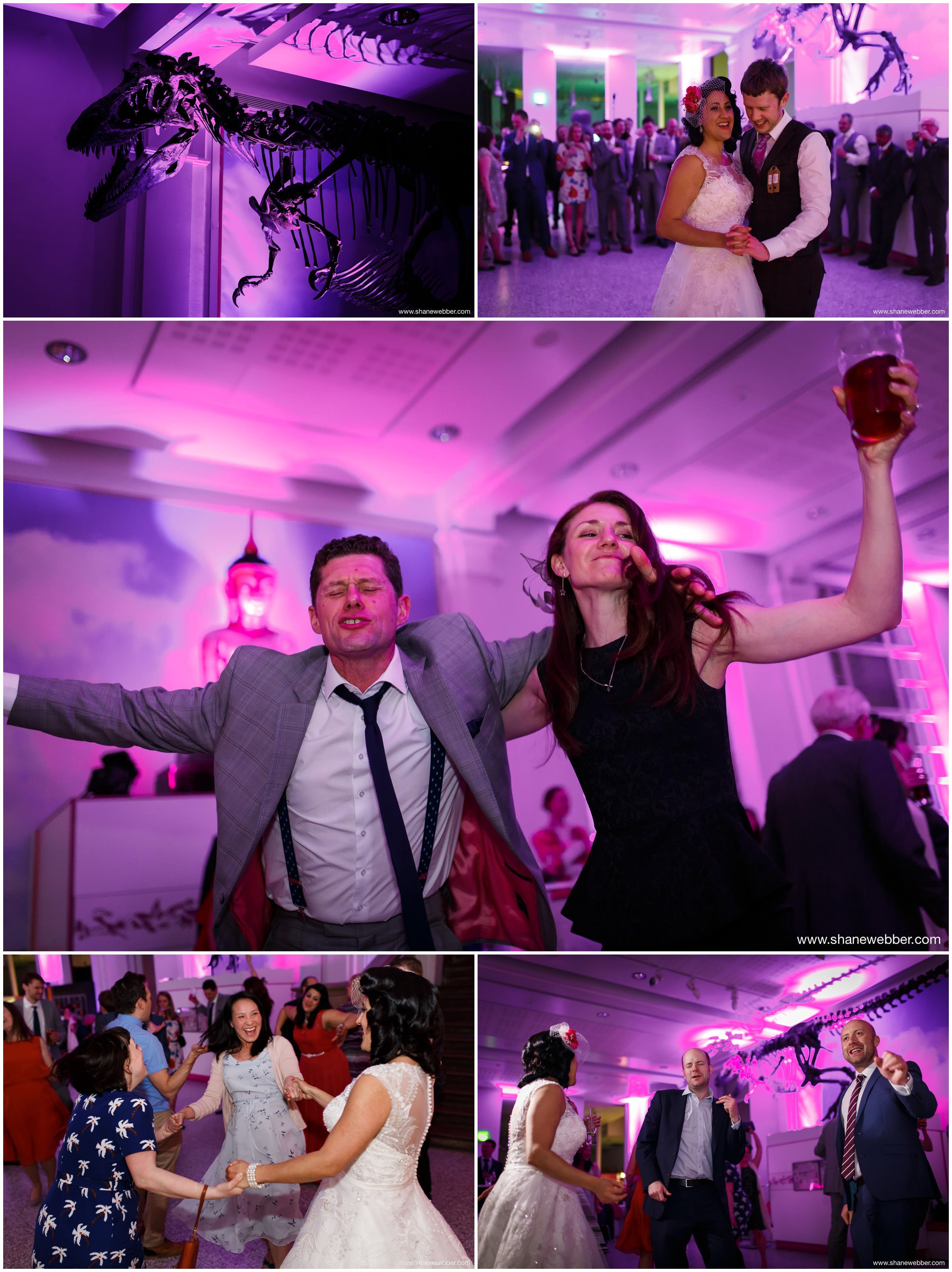 Crazy dancing wedding pictures