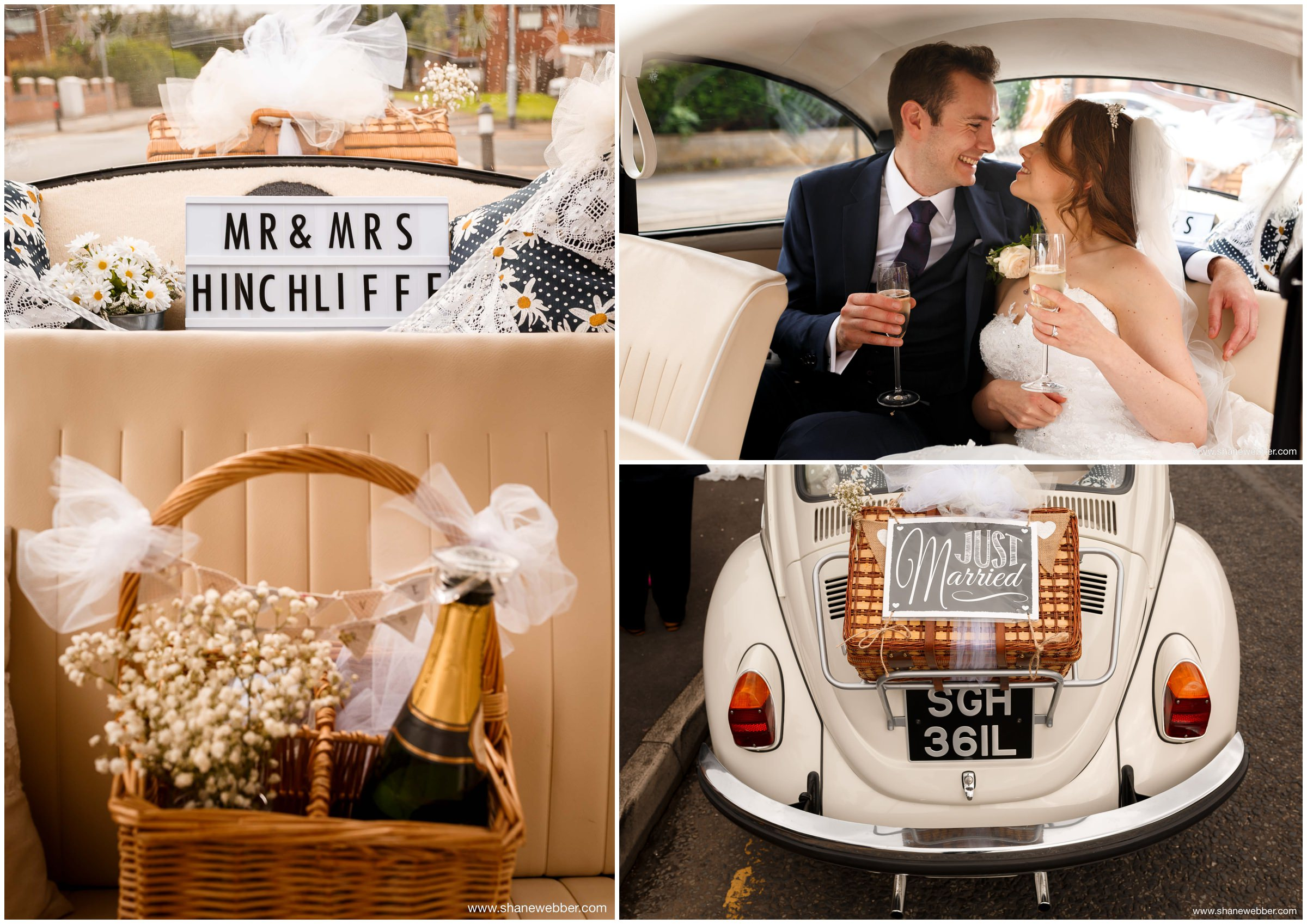 Vintage VW Beetle wedding car