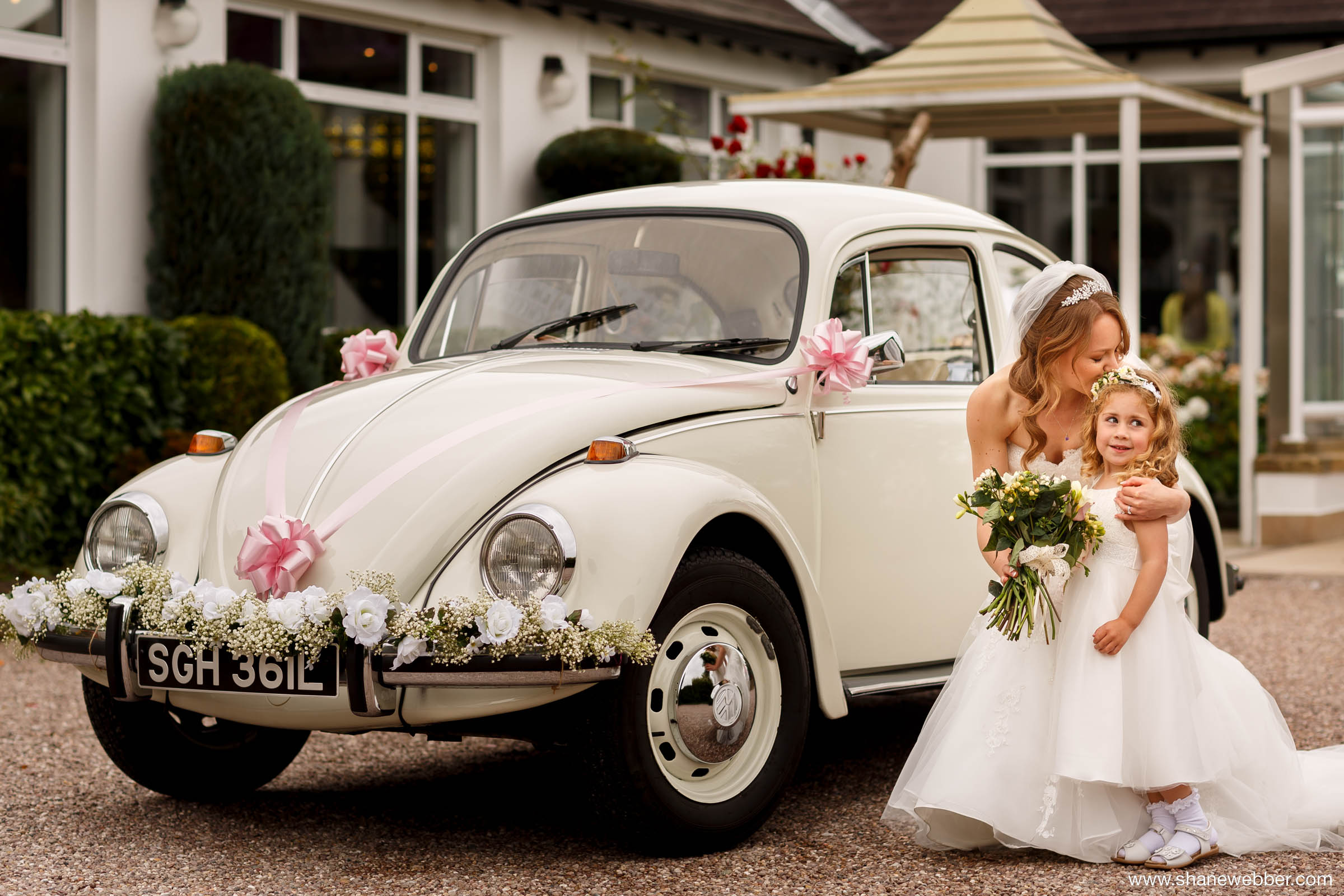 Vintage Volkswagen Beetle wedding car