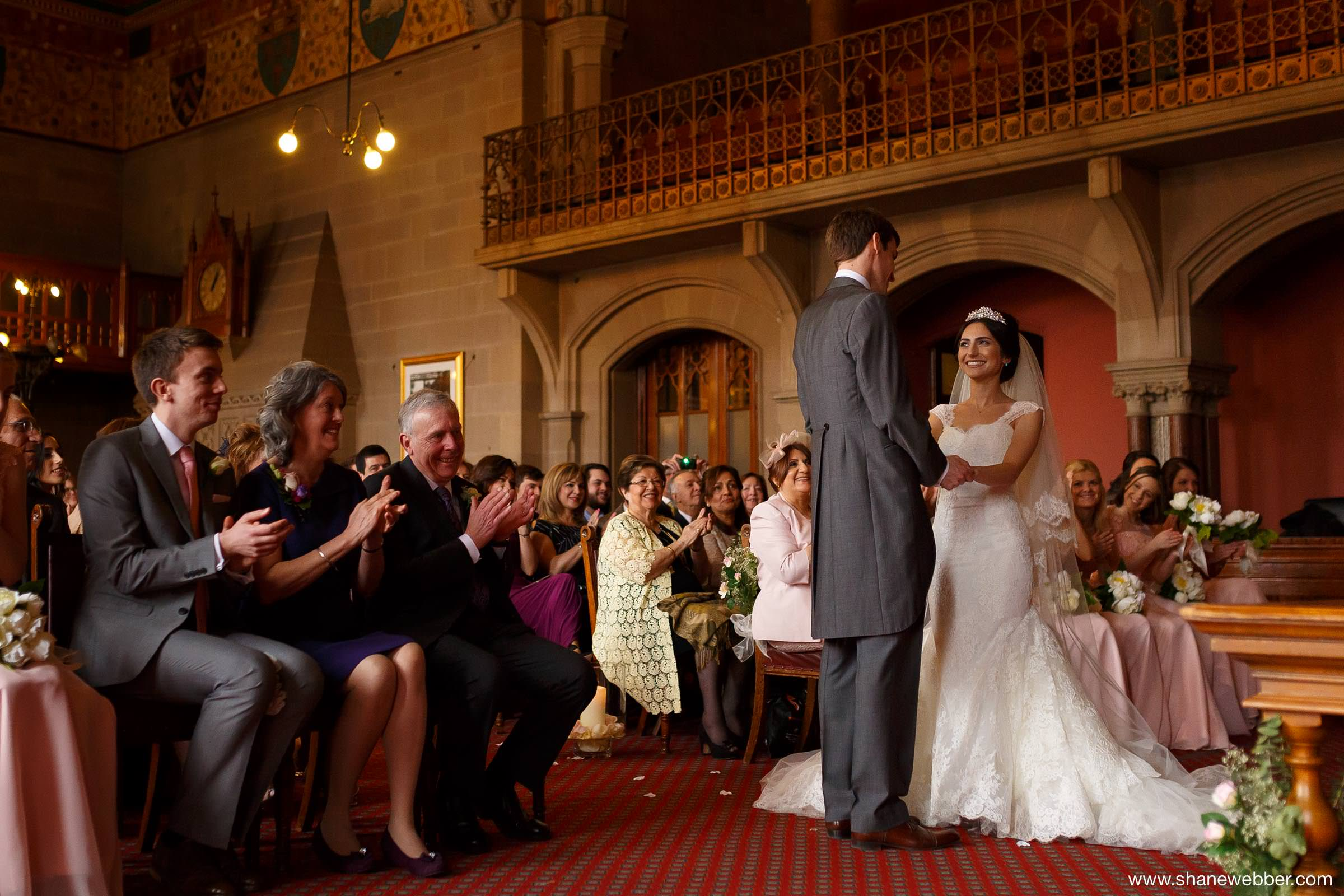 Wedding ceremony at the Manchester Town Hall
