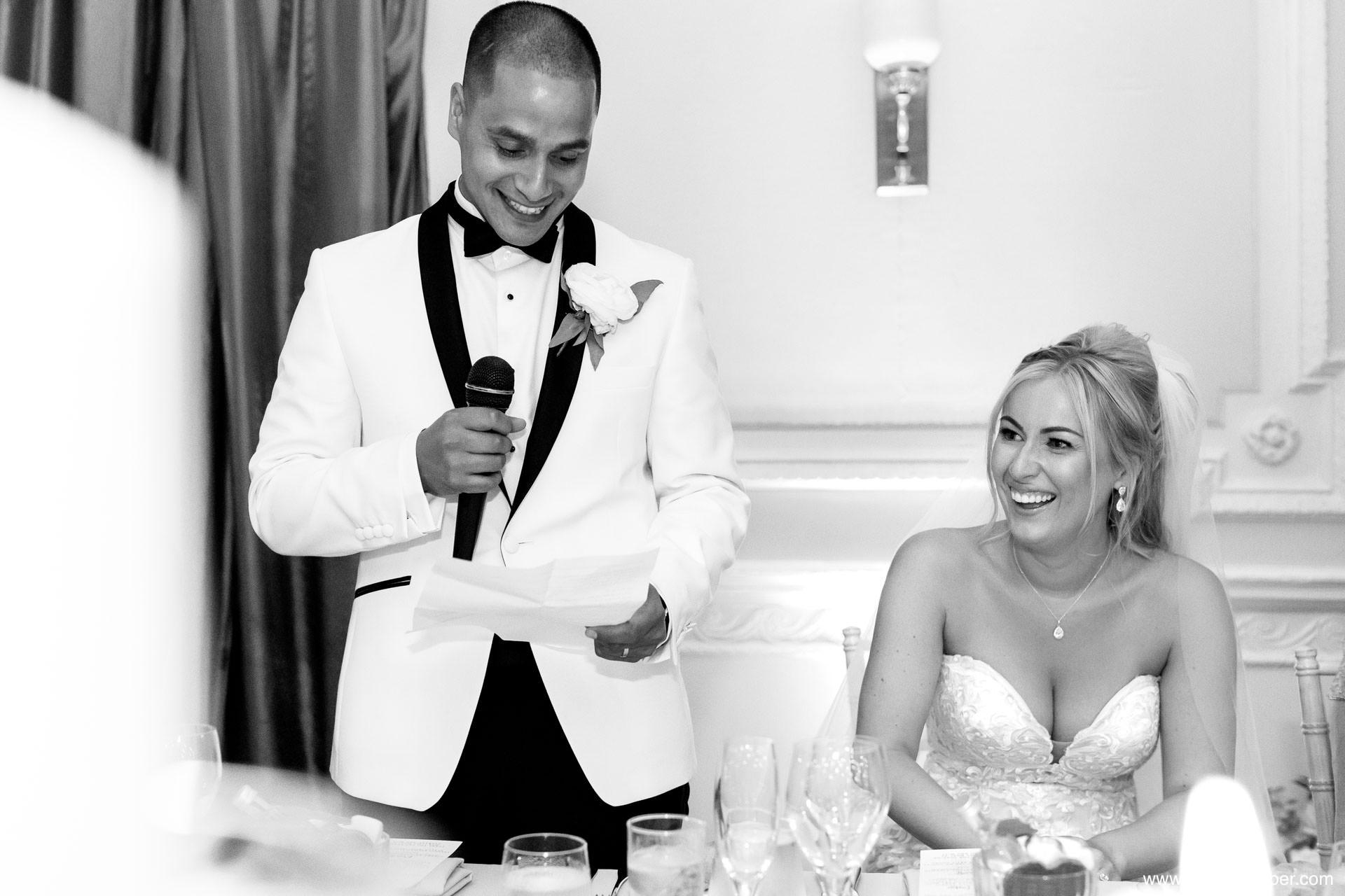 Groom speech wedding photos