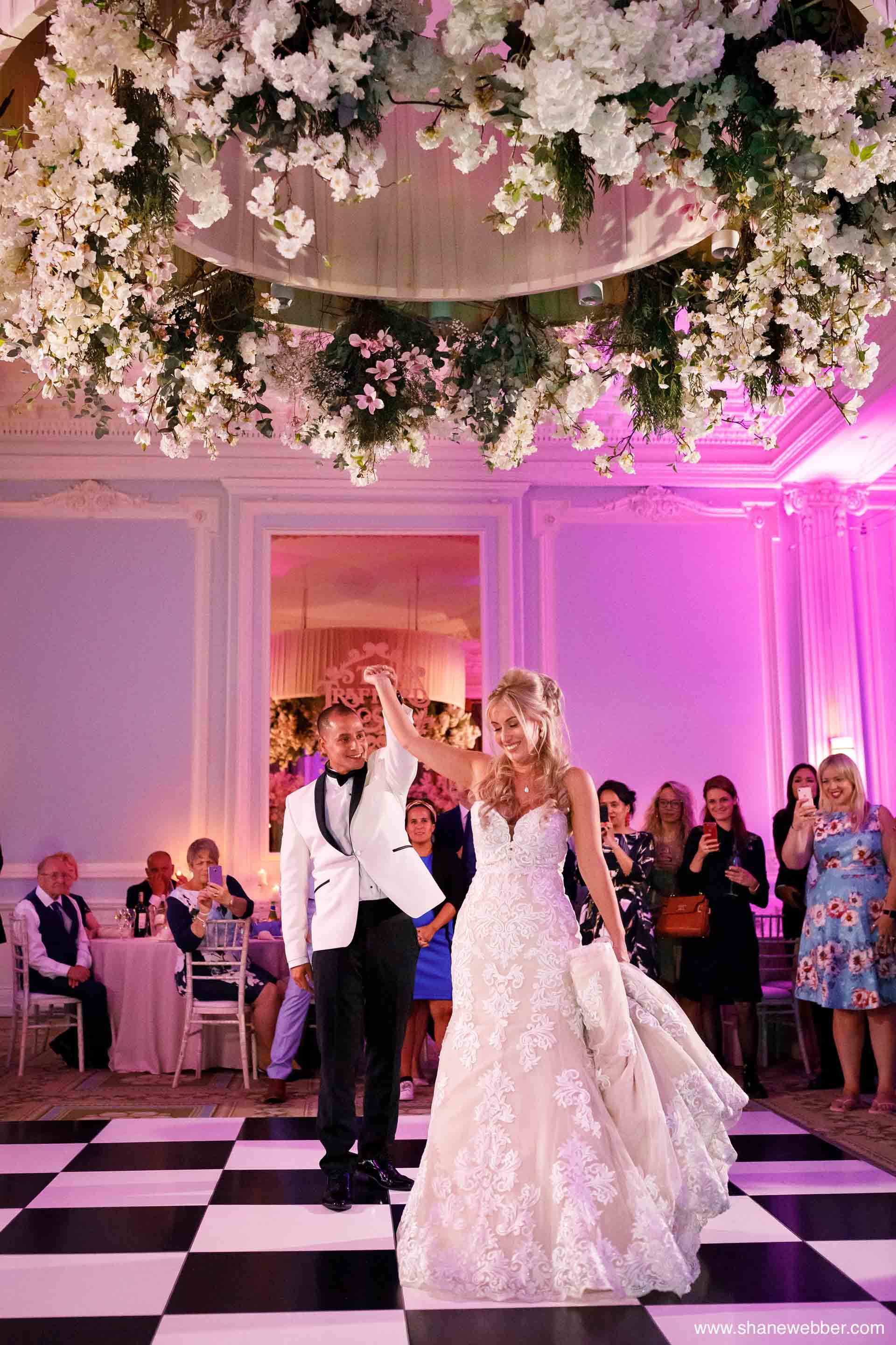 Couples first dance at The Midland Hotel in Manchester city centre