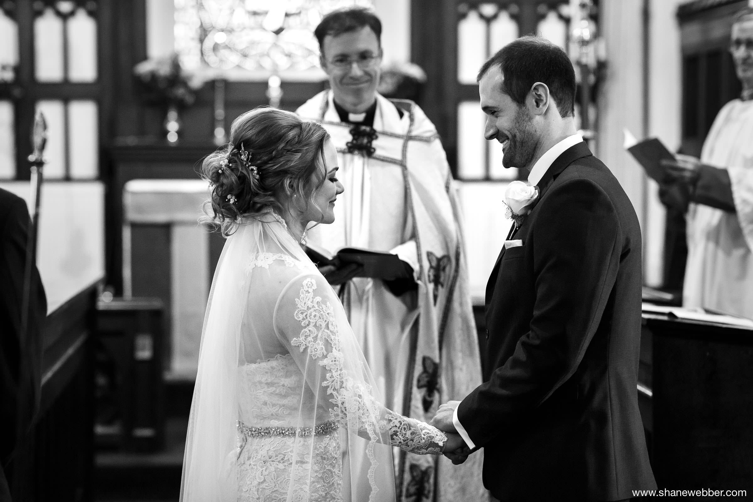 Photo during winter wedding ceremony