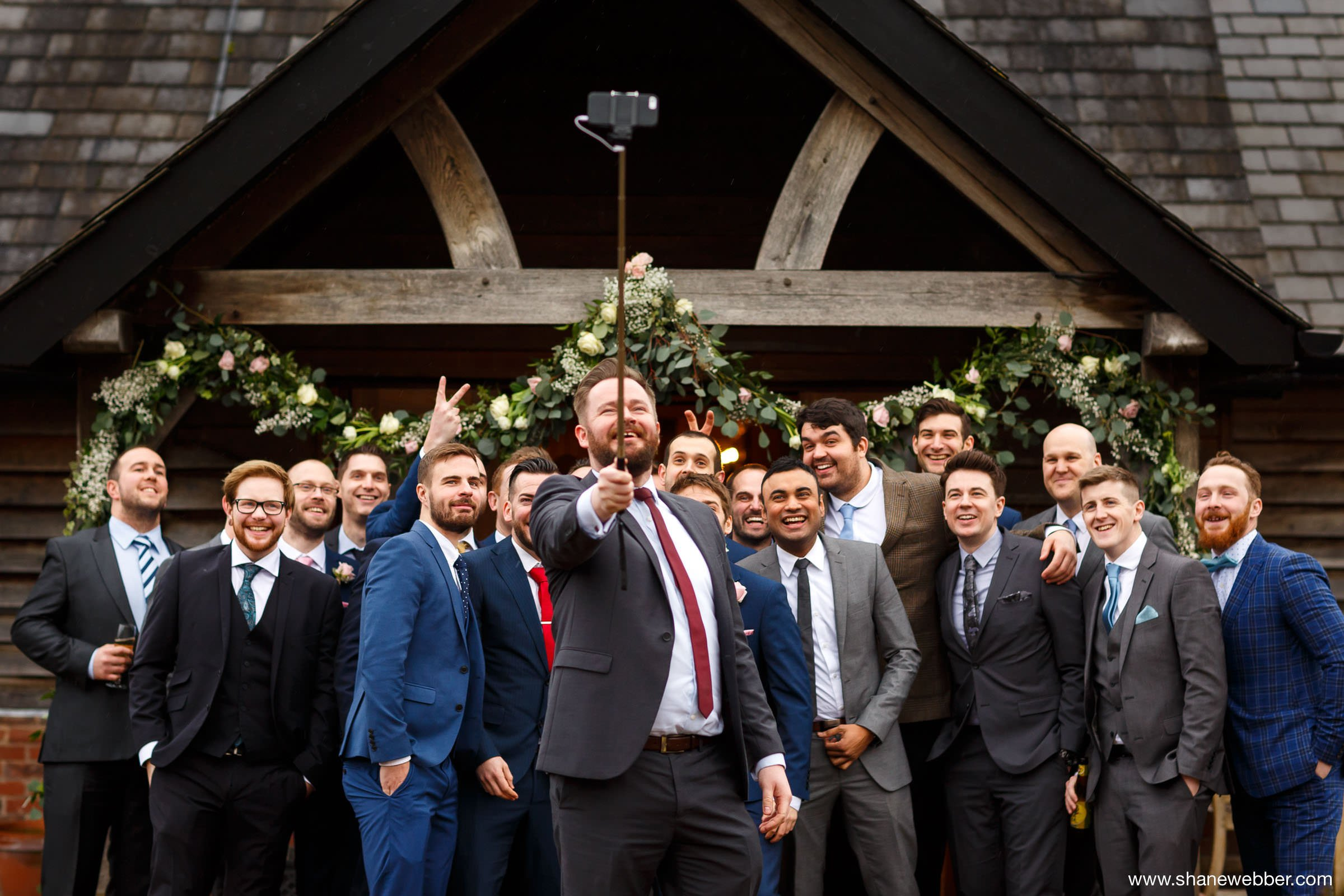 Selfie wedding photo