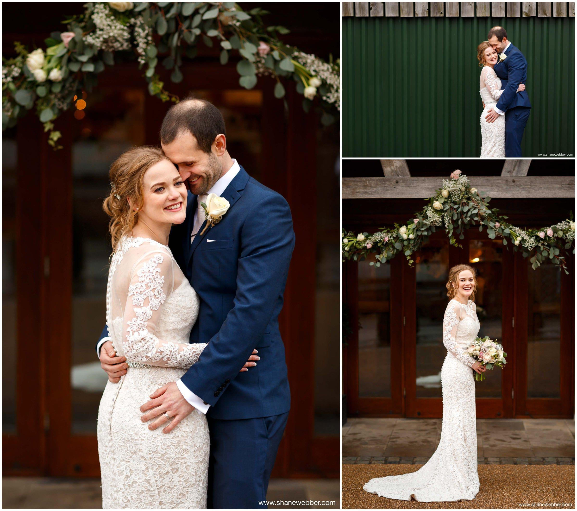 Sandhole Oak Barn Winter Wedding Photography