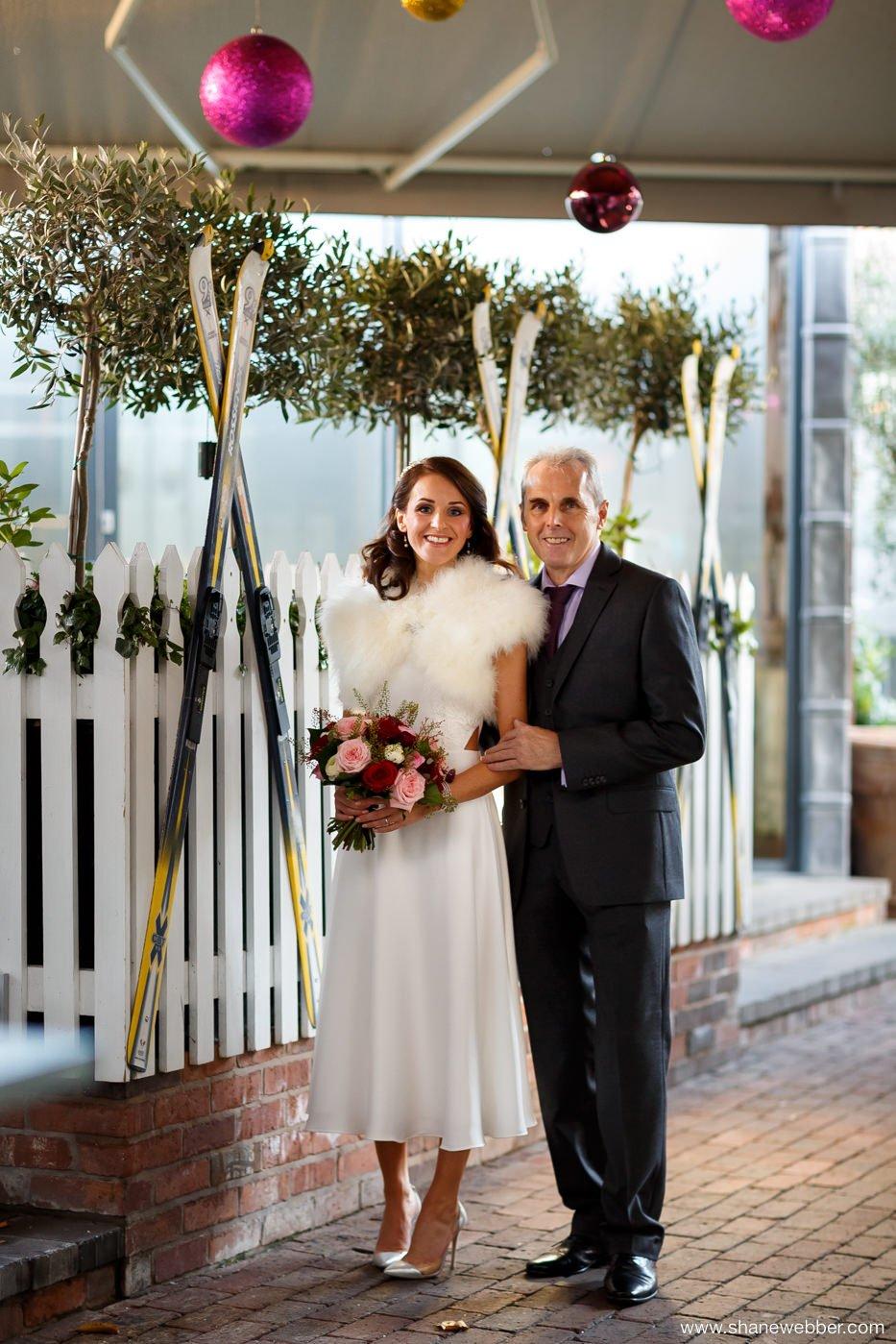 Bride in the garden at Oddfellows Chester