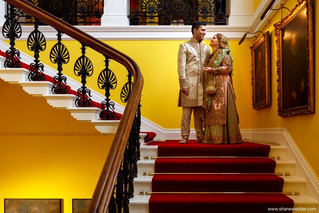 Colourful wedding photograph