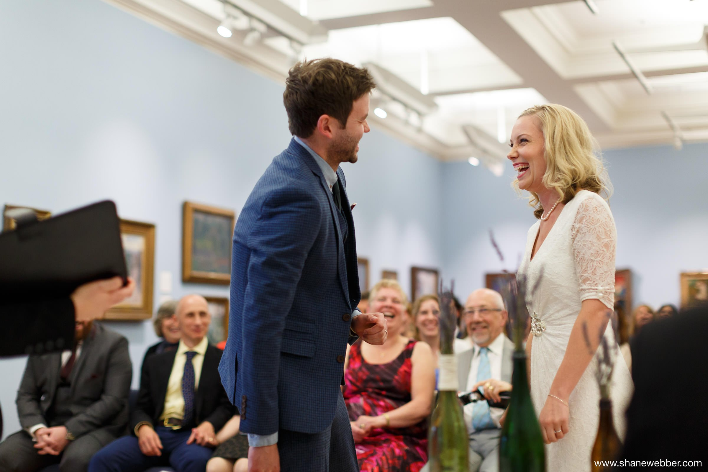 Manchester Art Gallery summer wedding photo
