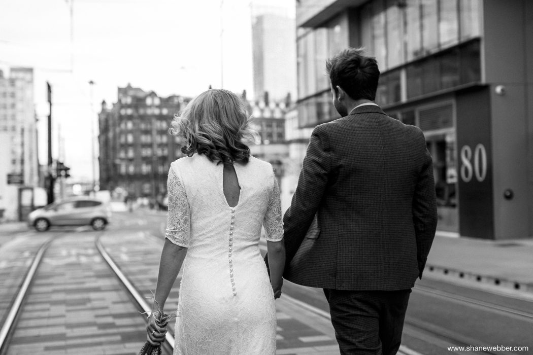 City wedding photo