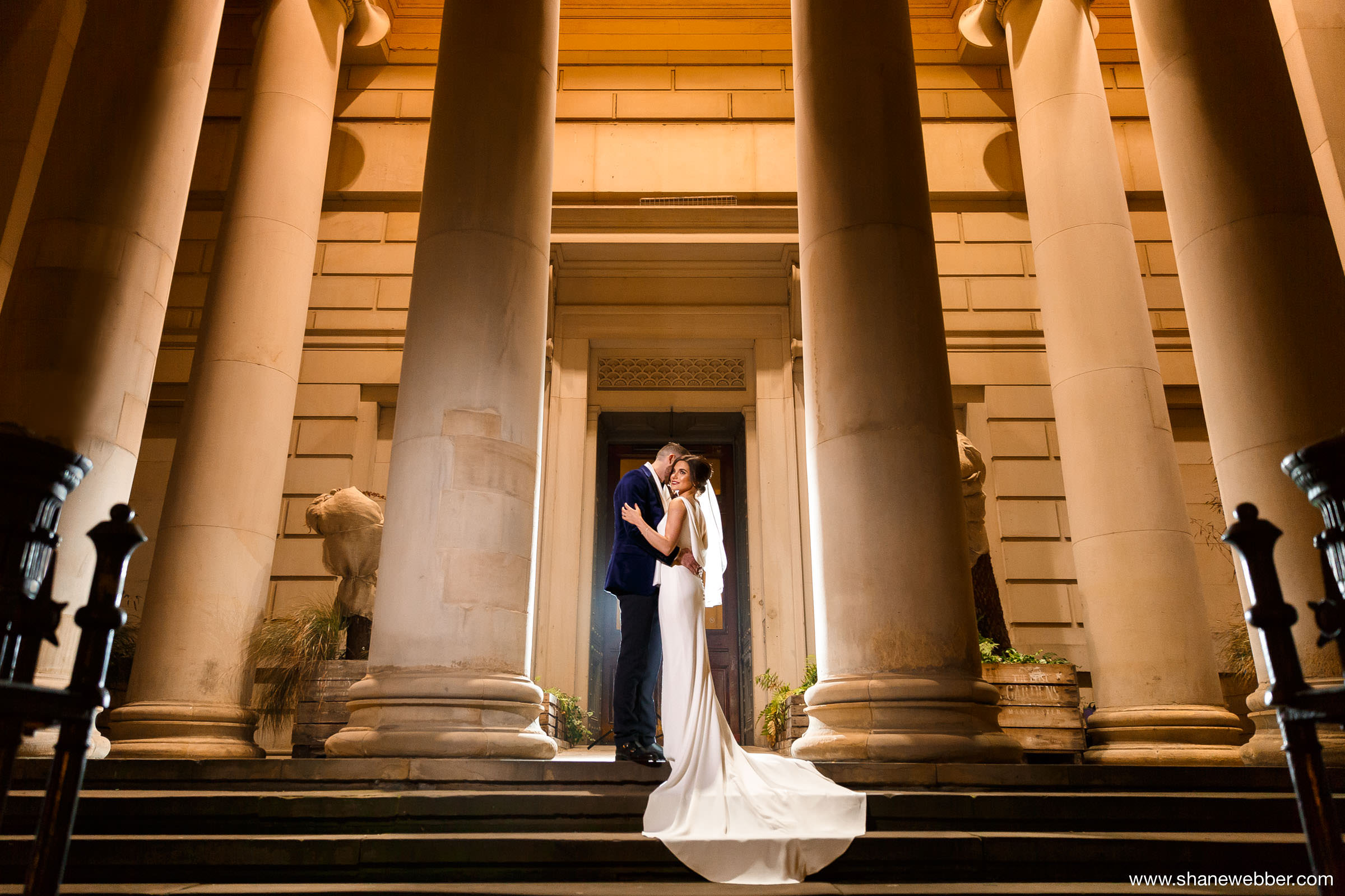 Night Time Wedding Photography At Manchester Art Gallery