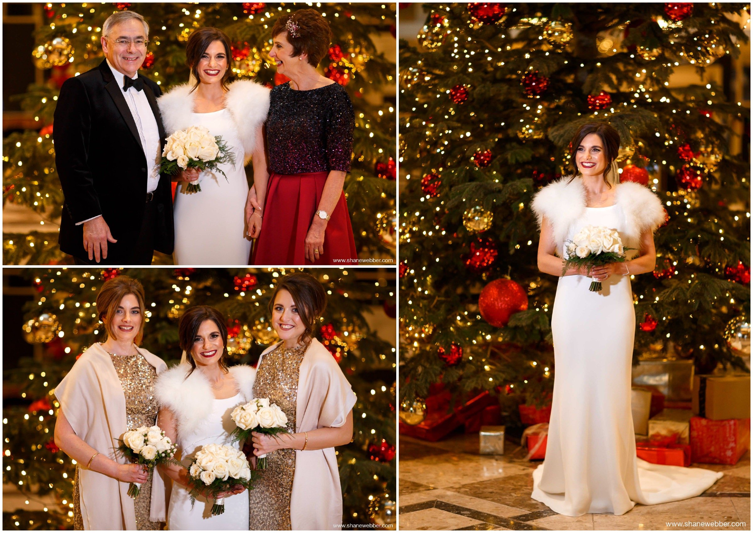 Christmas wedding photos