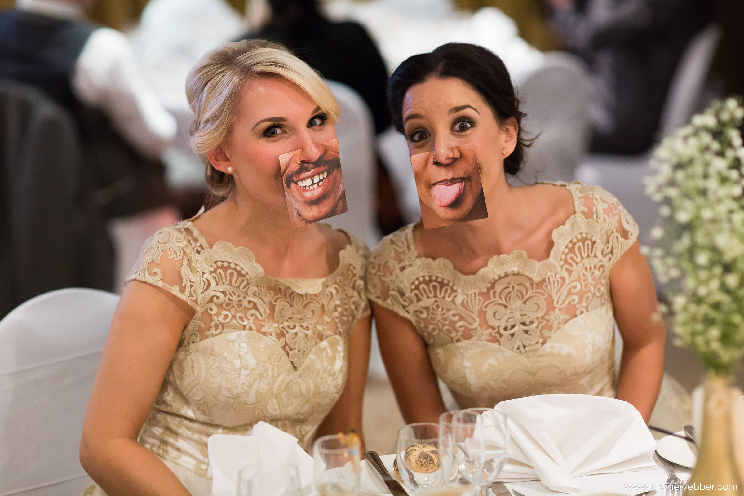 Guests having fun at a wedding
