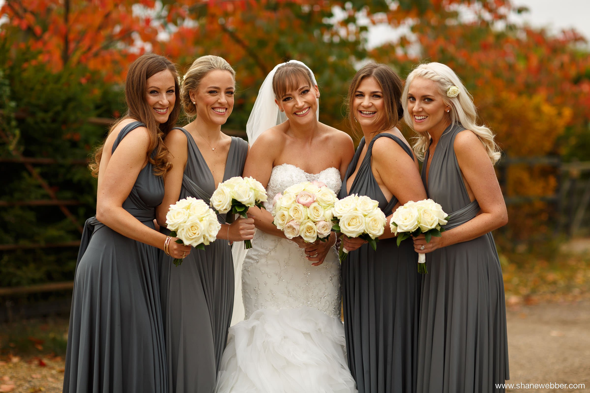 Photo of the bride and bridesmaids