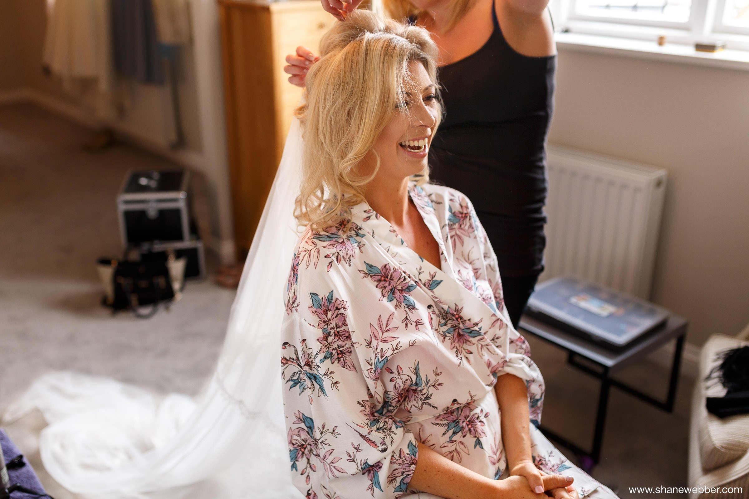 Bridal hair photograph