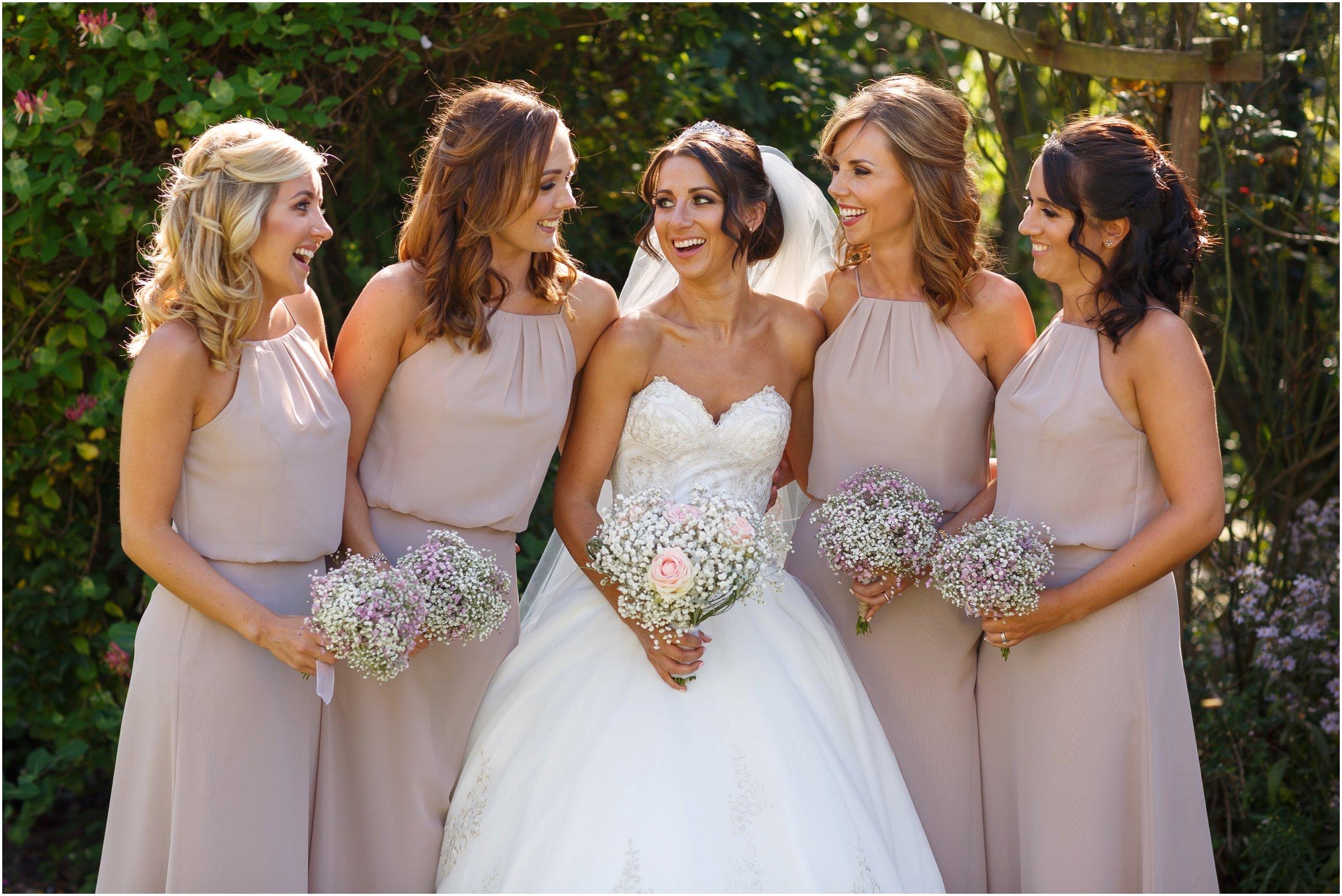 photograph of bridesmaids