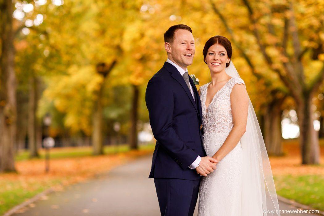 autumn wedding photography at Colshaw Hall Cheshire