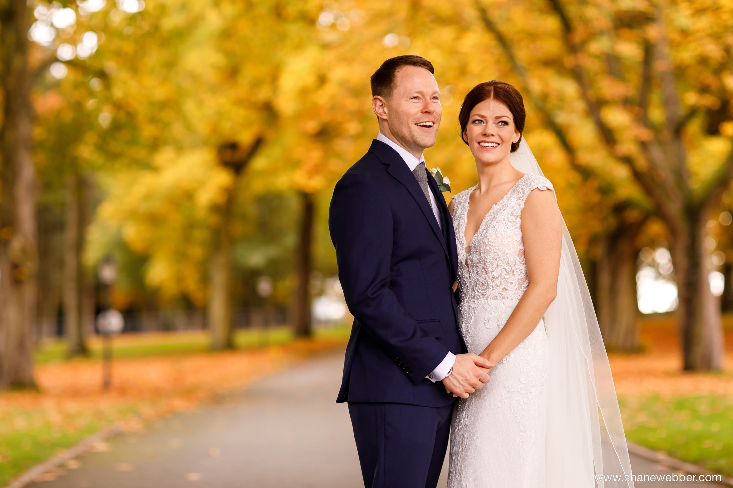 autumn wedding photography at Colshaw Hall Cheshire