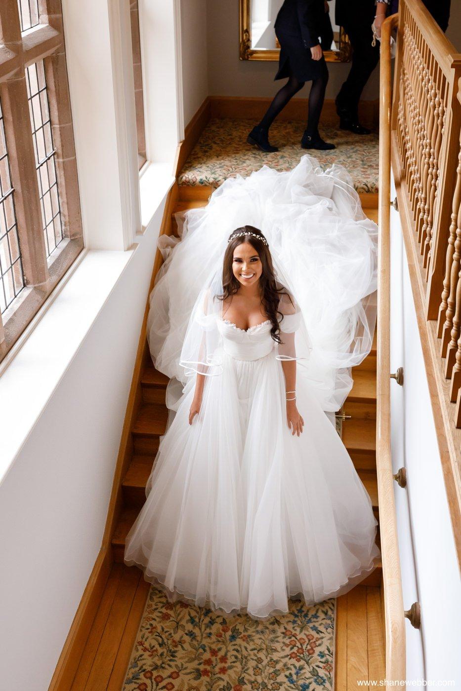 Bridal preparation photography at Colshaw Hall